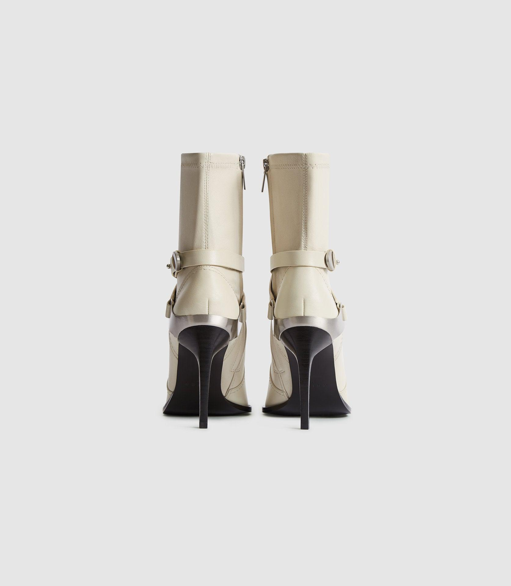 HAYWORTH HIGH - LEATHER POINT-TOE BOOTS 4