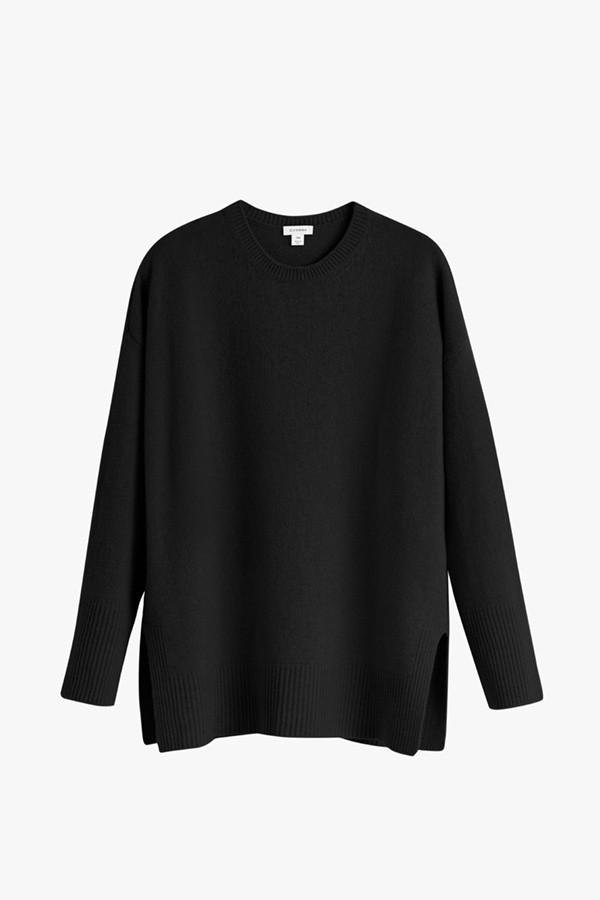 Women's Recycled Crewneck Sweater in Black   Size: 1