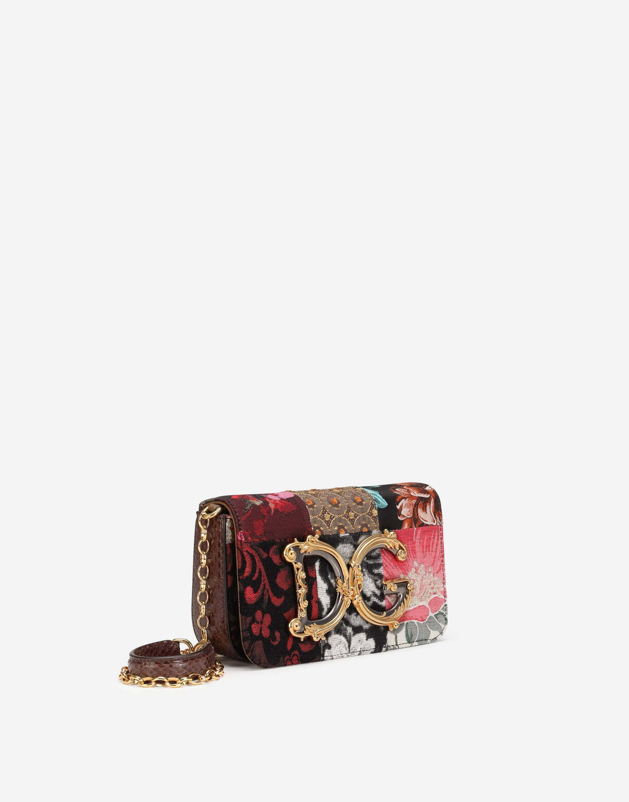 DG Girls clutch in patchwork fabric and ayers 1