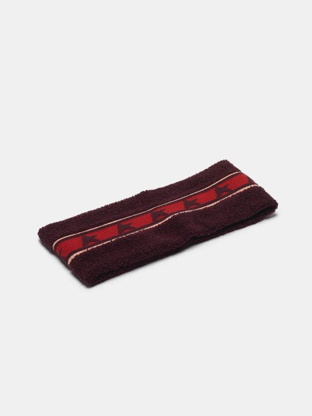 Noa headband in terry stitch with thread embroidery