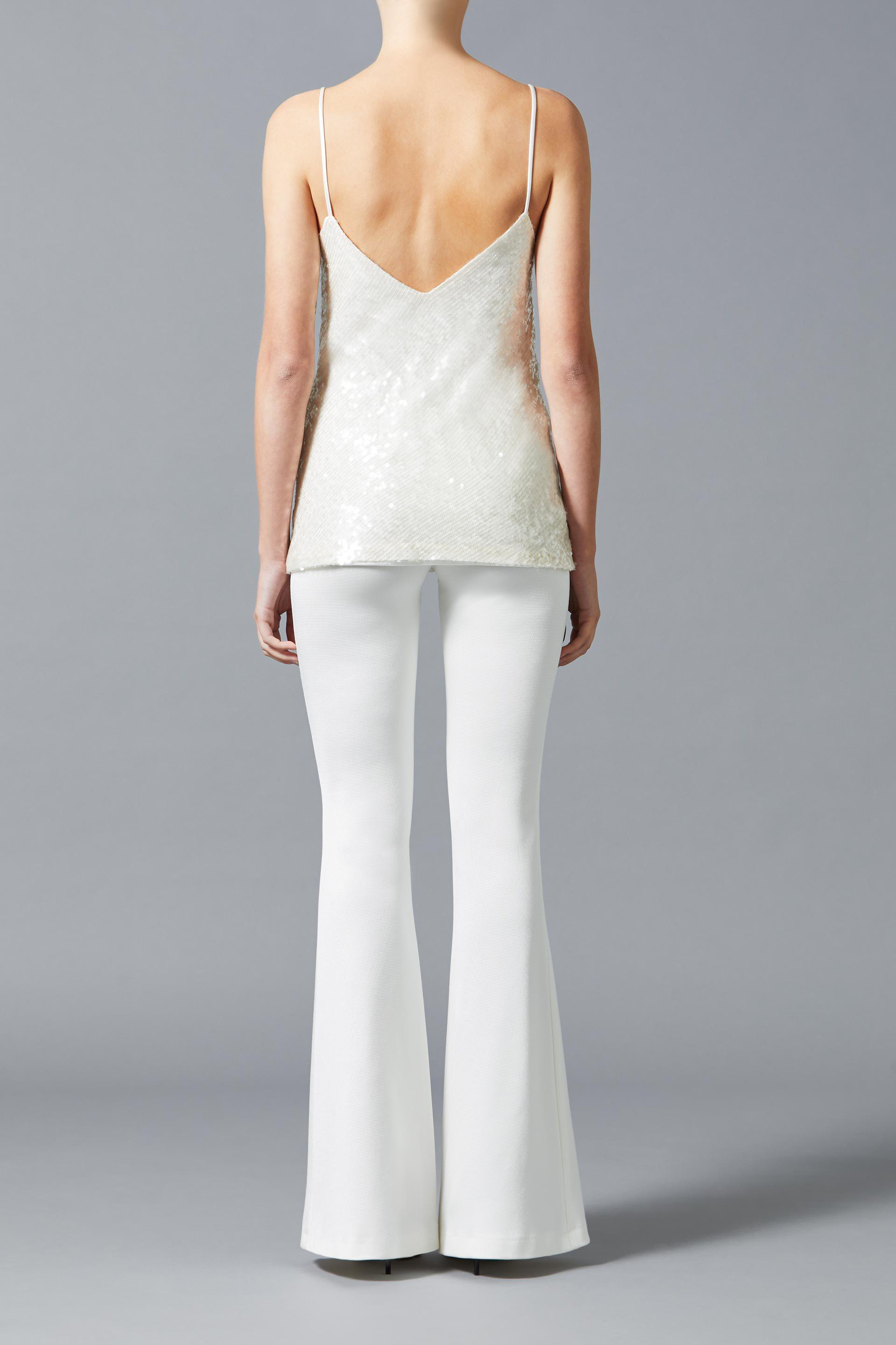 Jersey Flared Bridal Trousers 1
