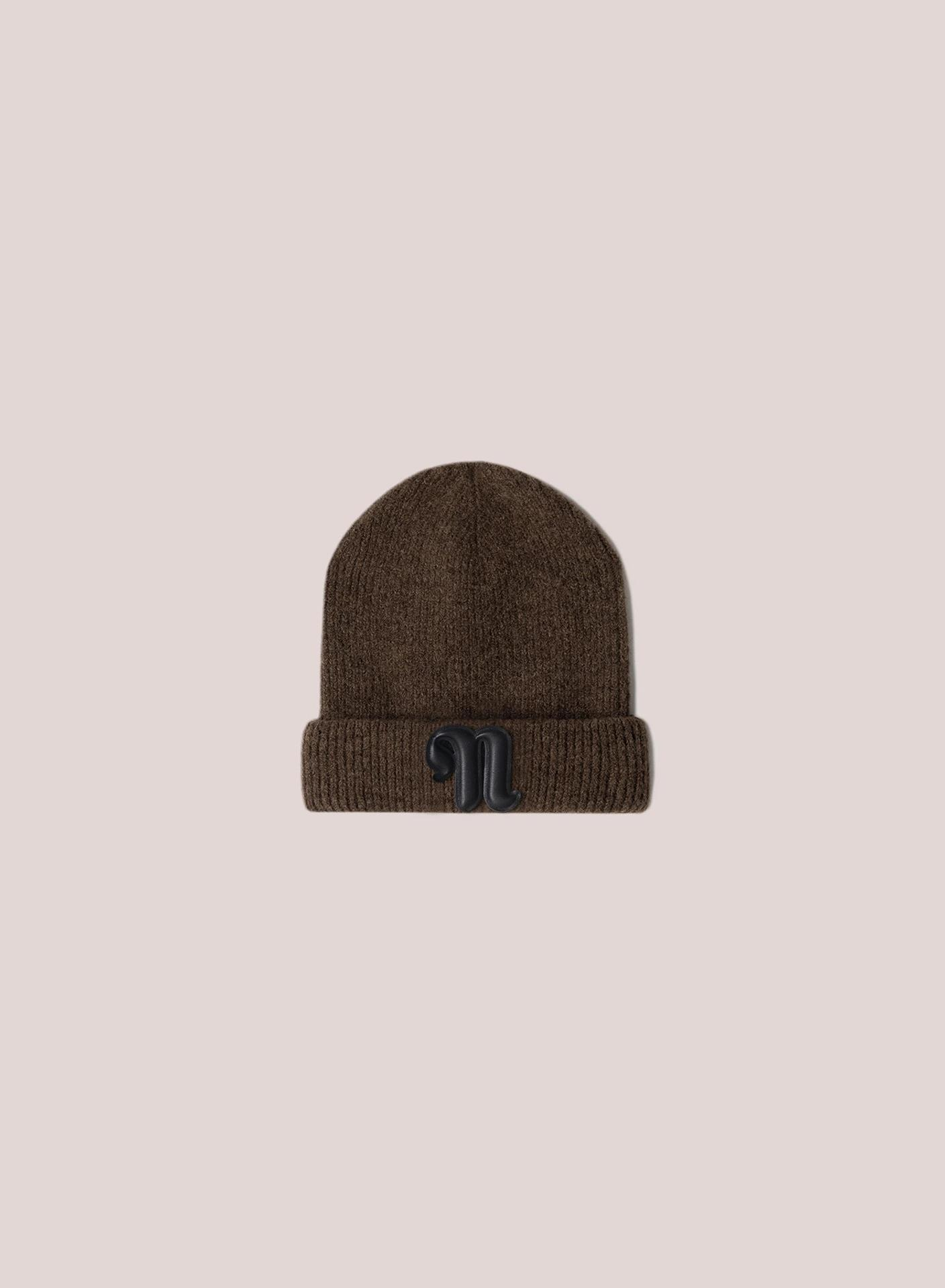 HIGGINS - Ribbed-knit beanie - Brown