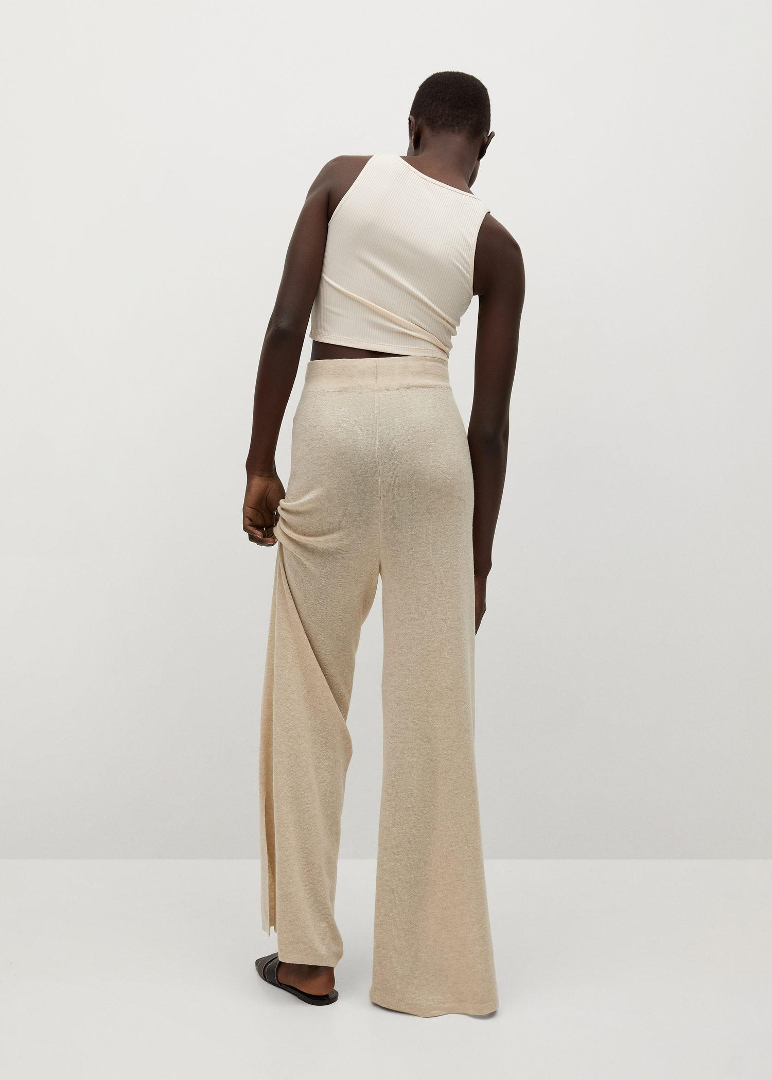 Knitted linen pants 2