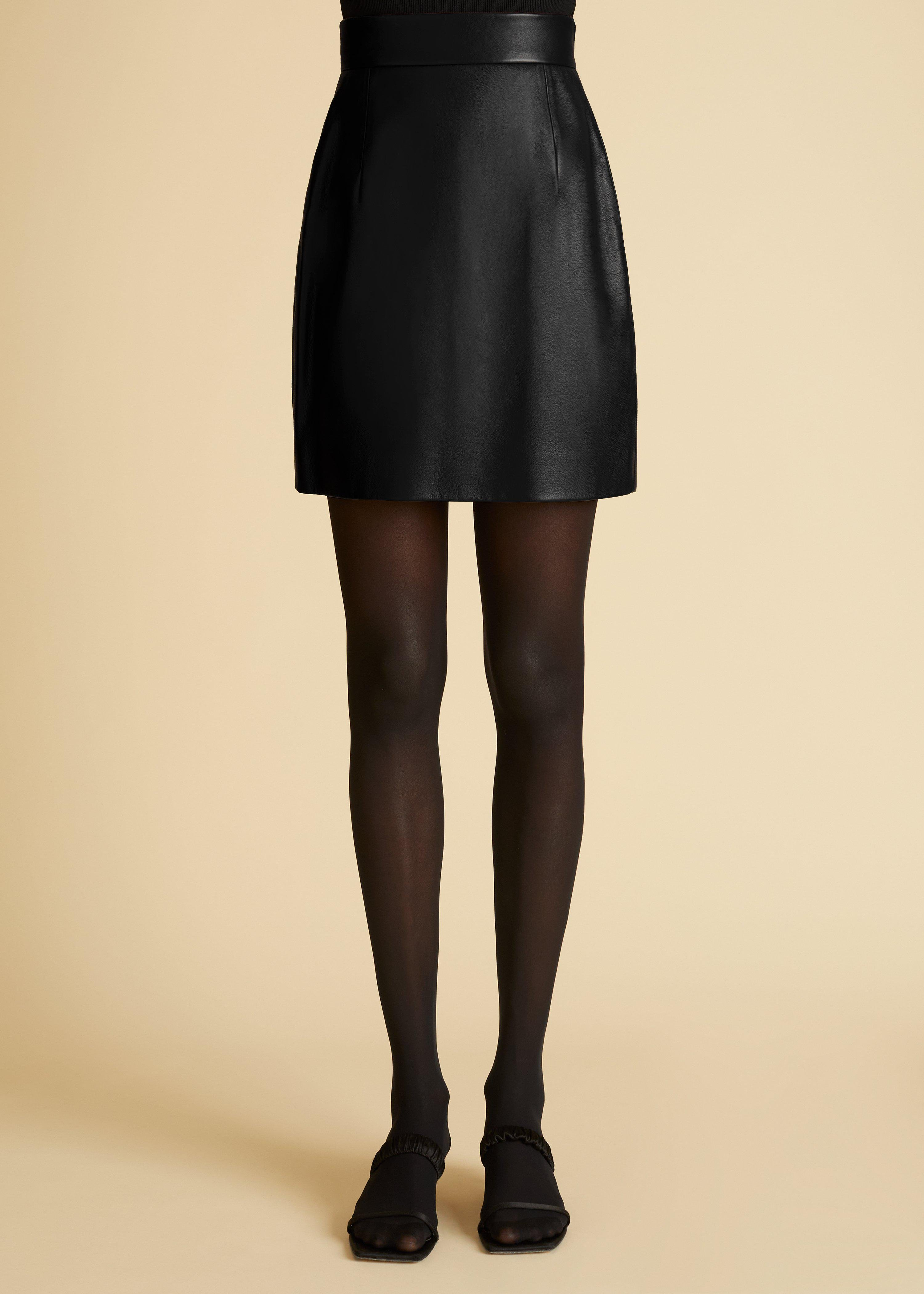 The Eiko Skirt in Black Leather 1