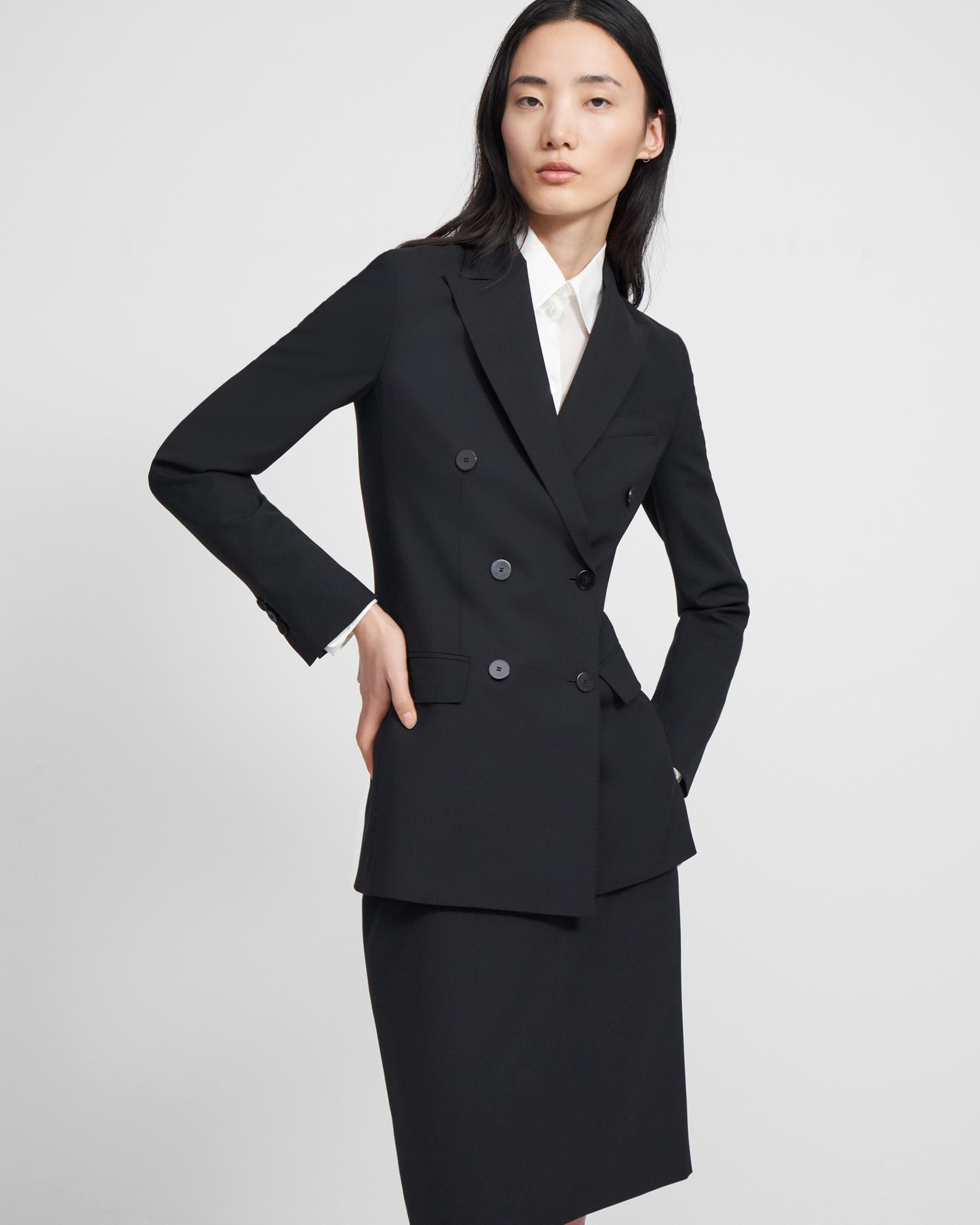 Double-Breasted Blazer in Good Wool
