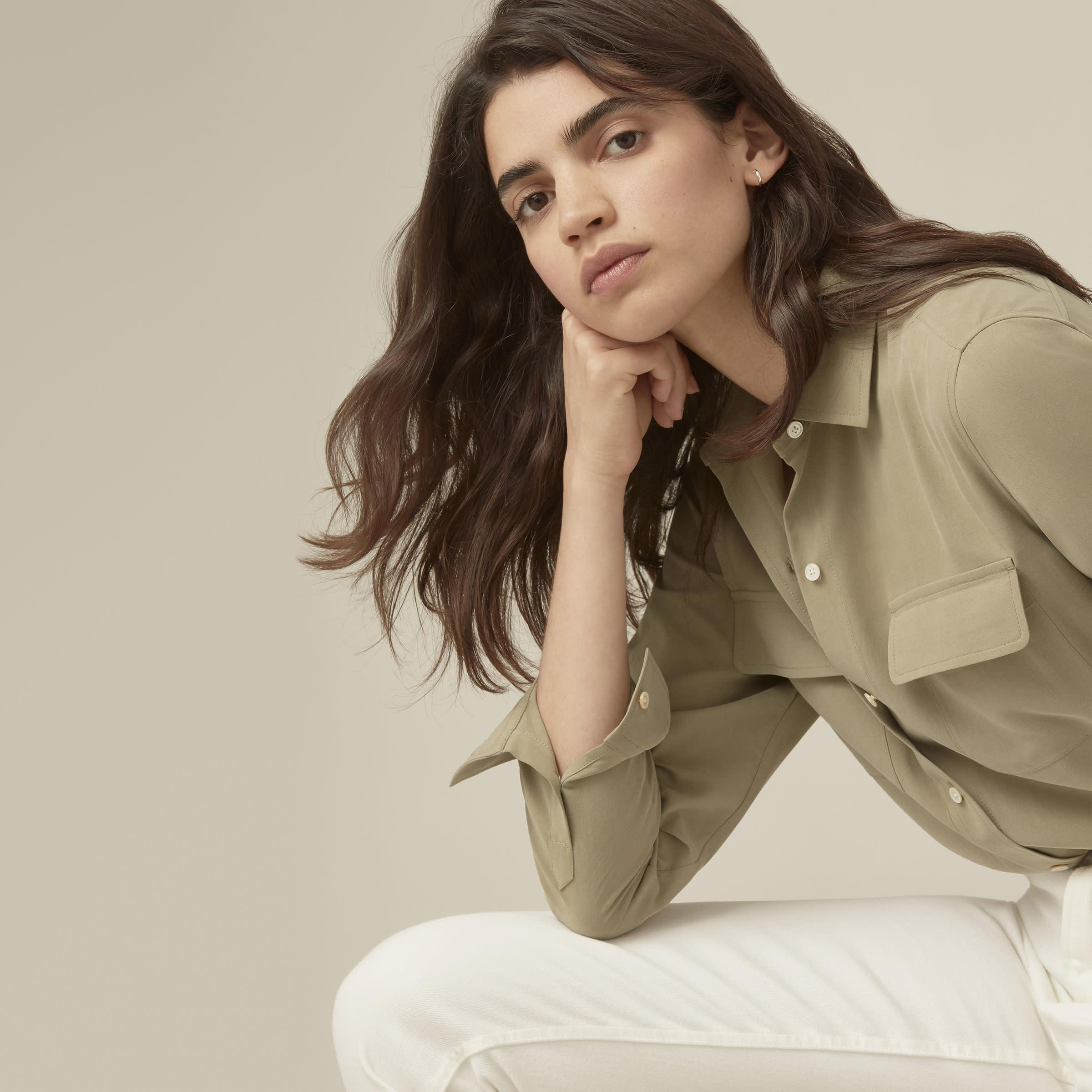 The Washable Silk Relaxed Shirt  4