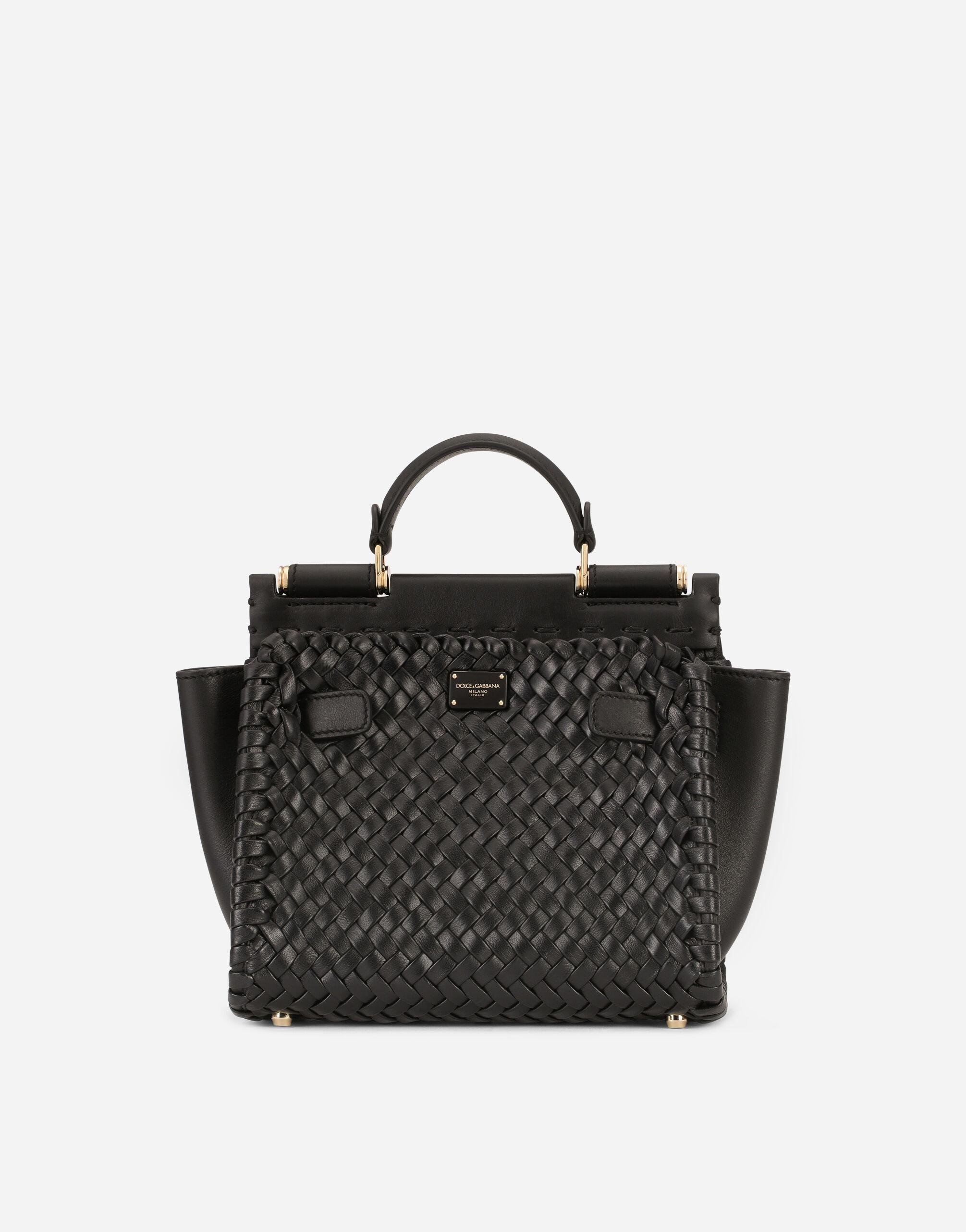 Small Sicily 62 soft bag in woven nappa leather and tahiti calfskin