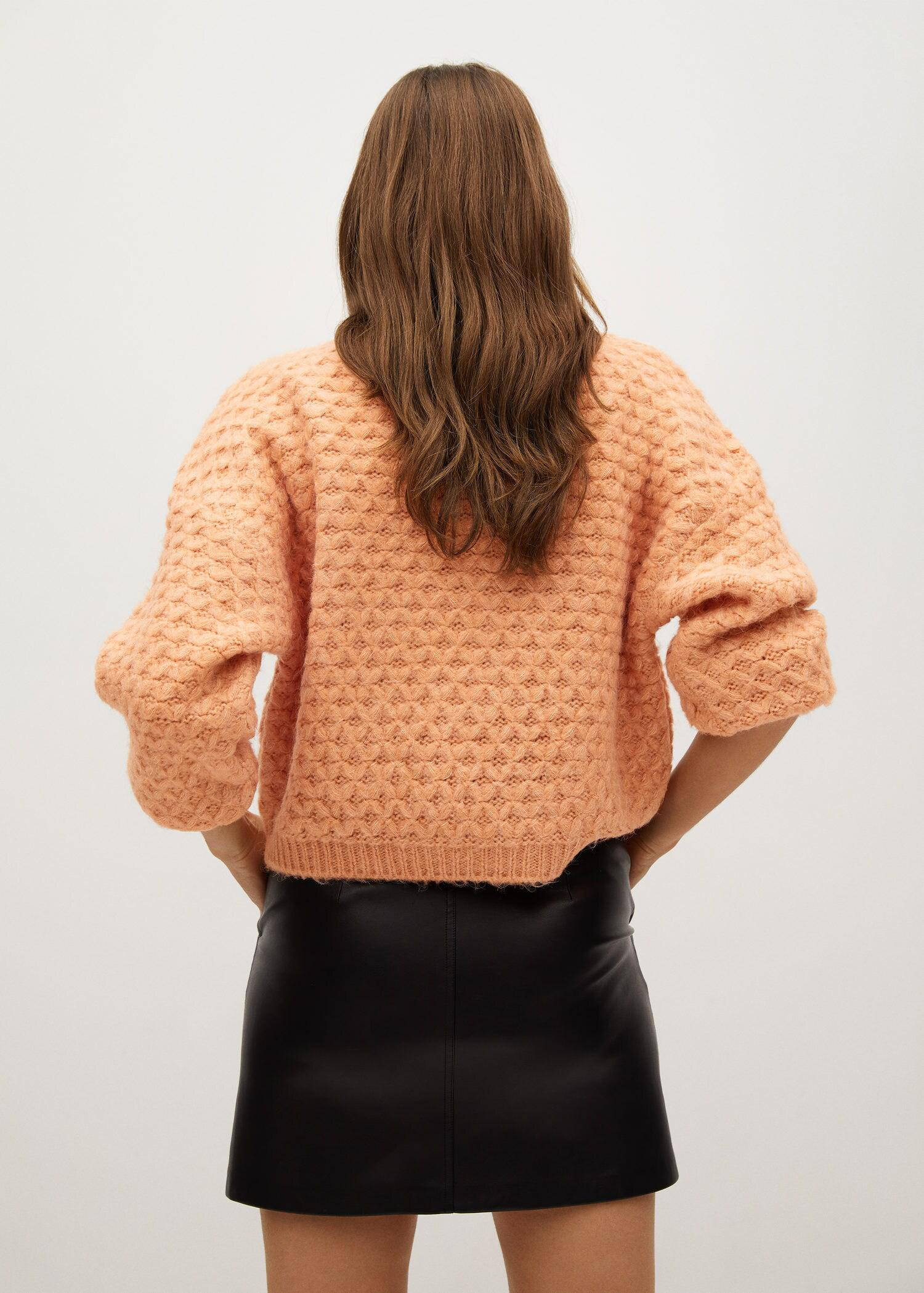 Textured knit sweater 2