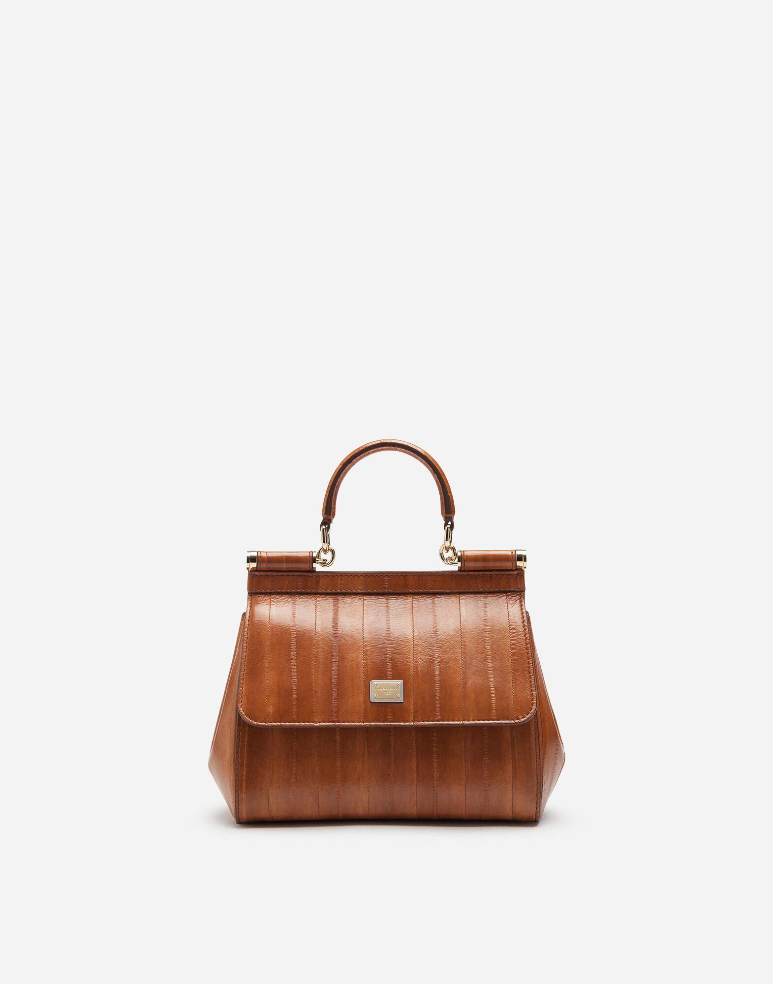 Small Sicily bag in eel