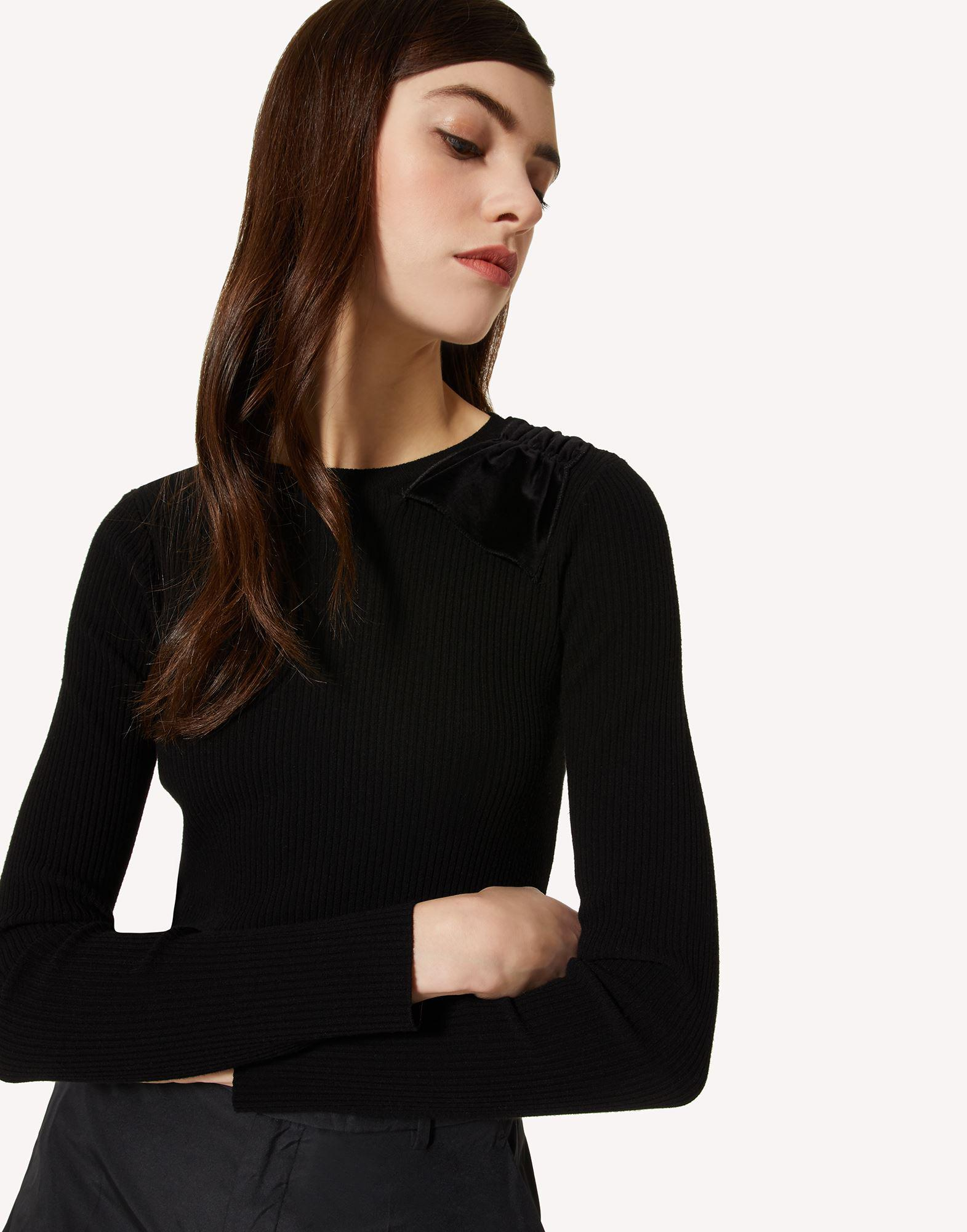 STRETCH VISCOSE SWEATER WITH BOW DETAIL 3