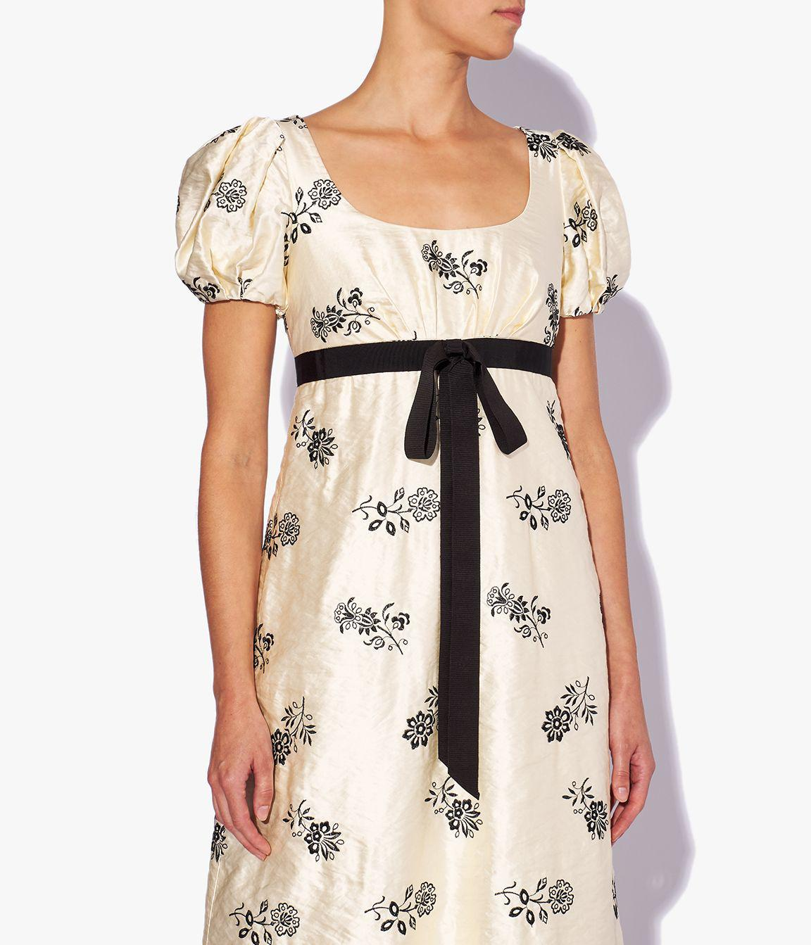 Leonore Gown Floral Embroidered Satin 2
