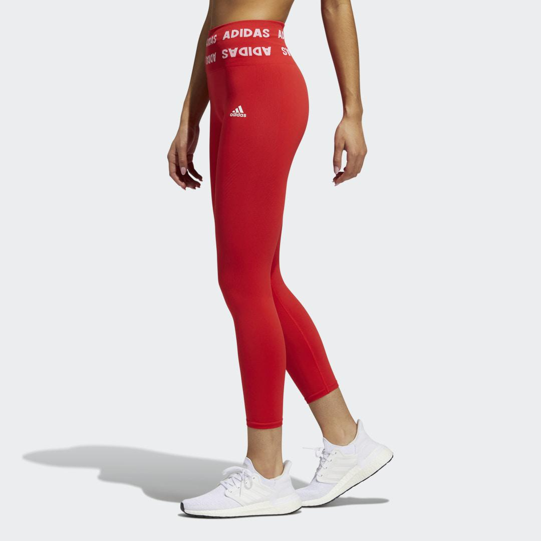 Training Aeroknit 7/8 High-Rise Tights Red 2