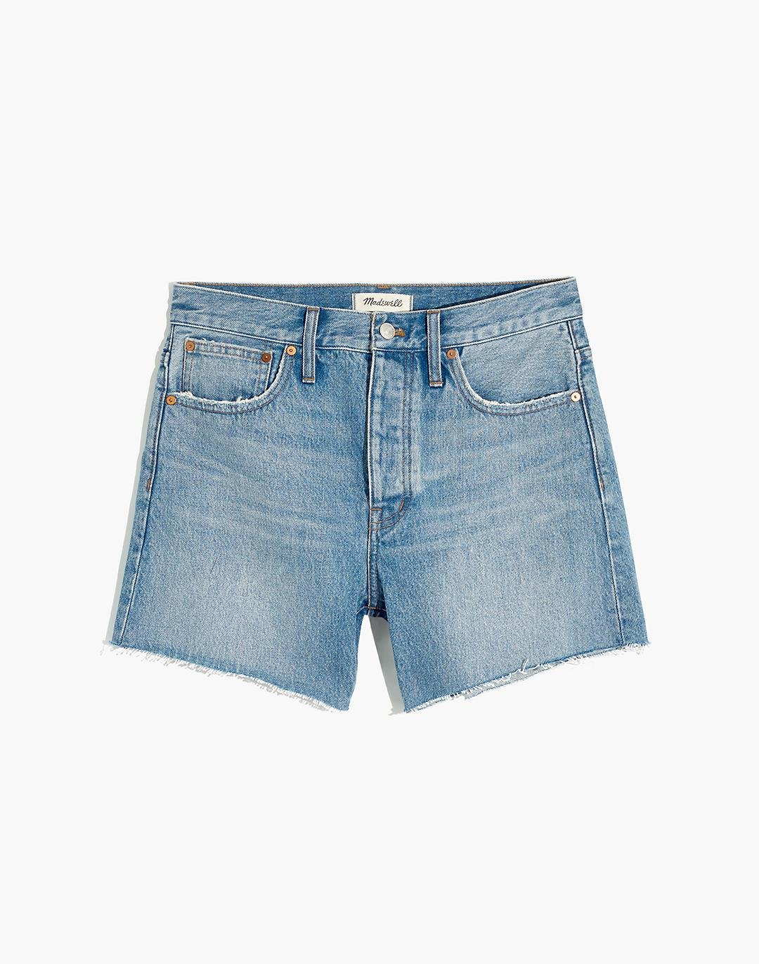 Relaxed Mid-Length Denim Shorts in Scottsburg Wash 3