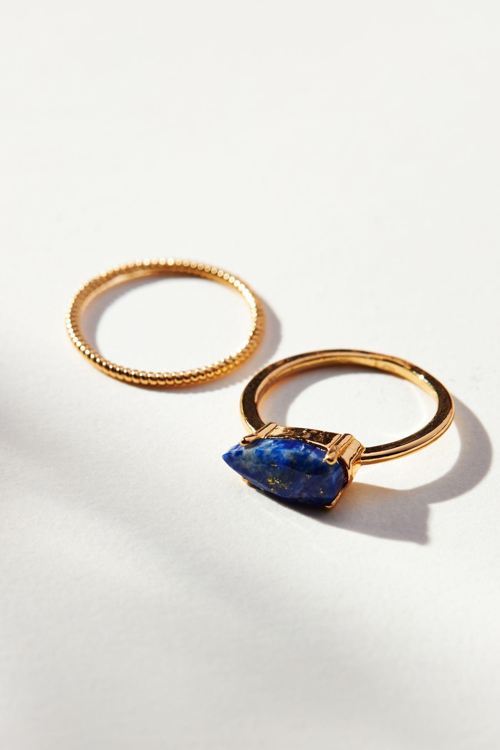 Double Band Stone Ring
