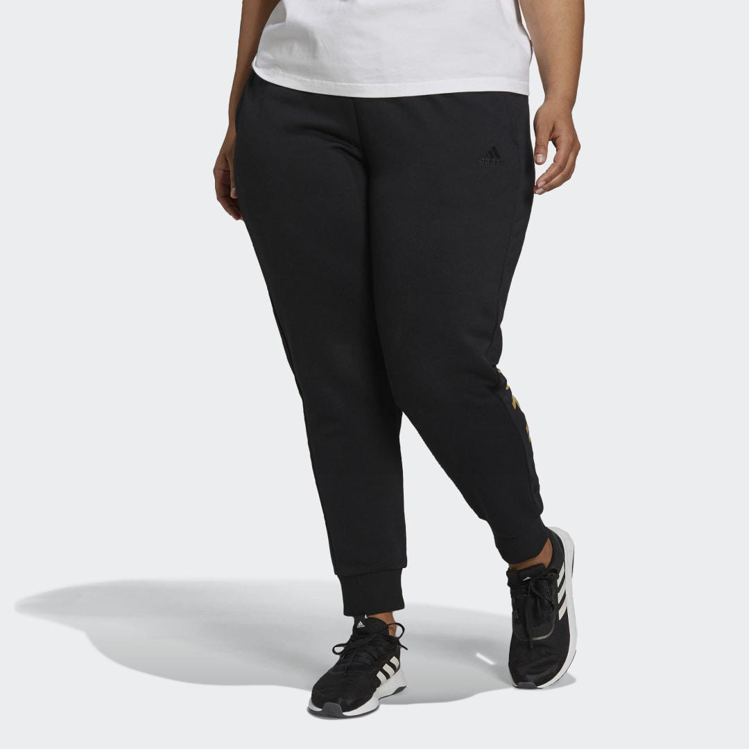 Essentials French Terry Logo Pants (Plus Size) Black