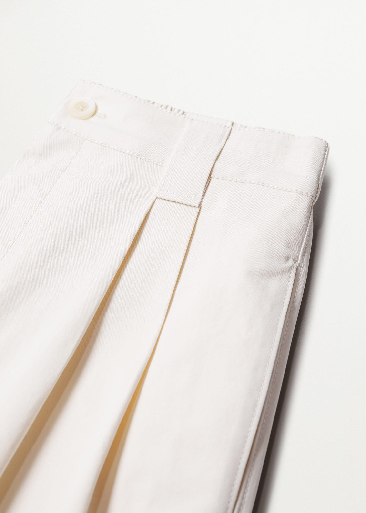 Pleat straight trousers 7