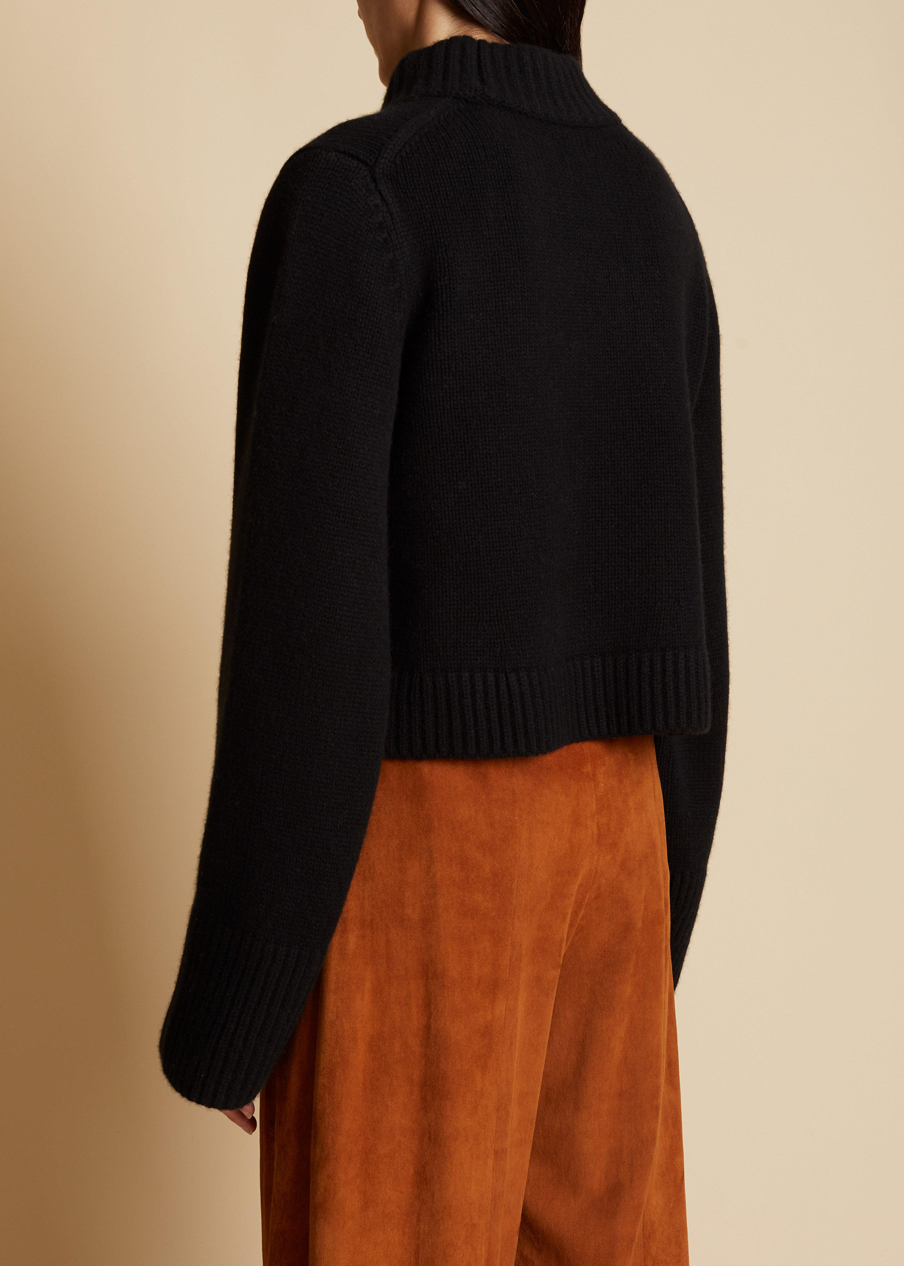The Lima Sweater in Black 2