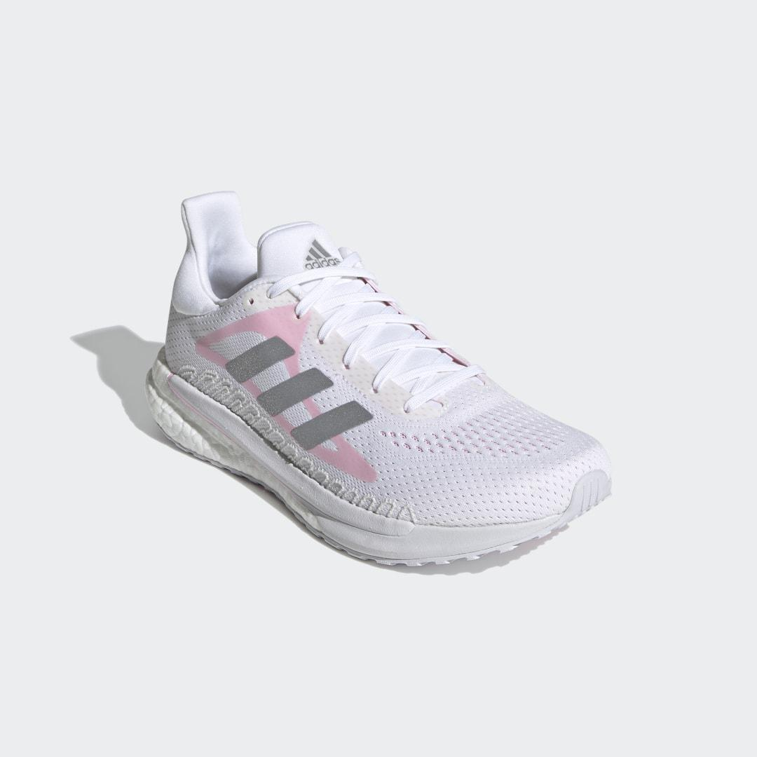 SolarGlide Shoes Cloud White 9 - Womens Running Shoes