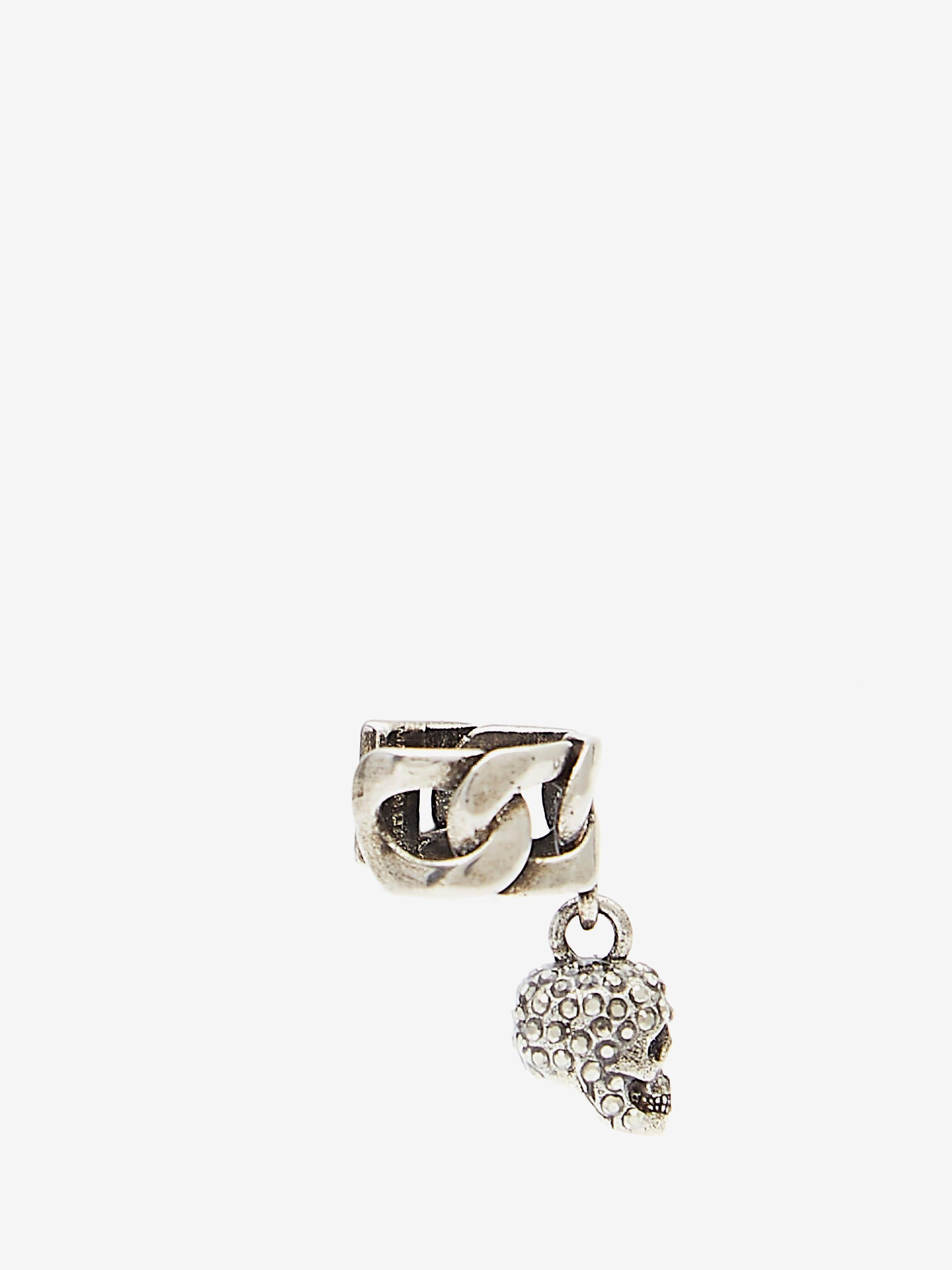 Chain Ear Cuff with Pave Skull 1