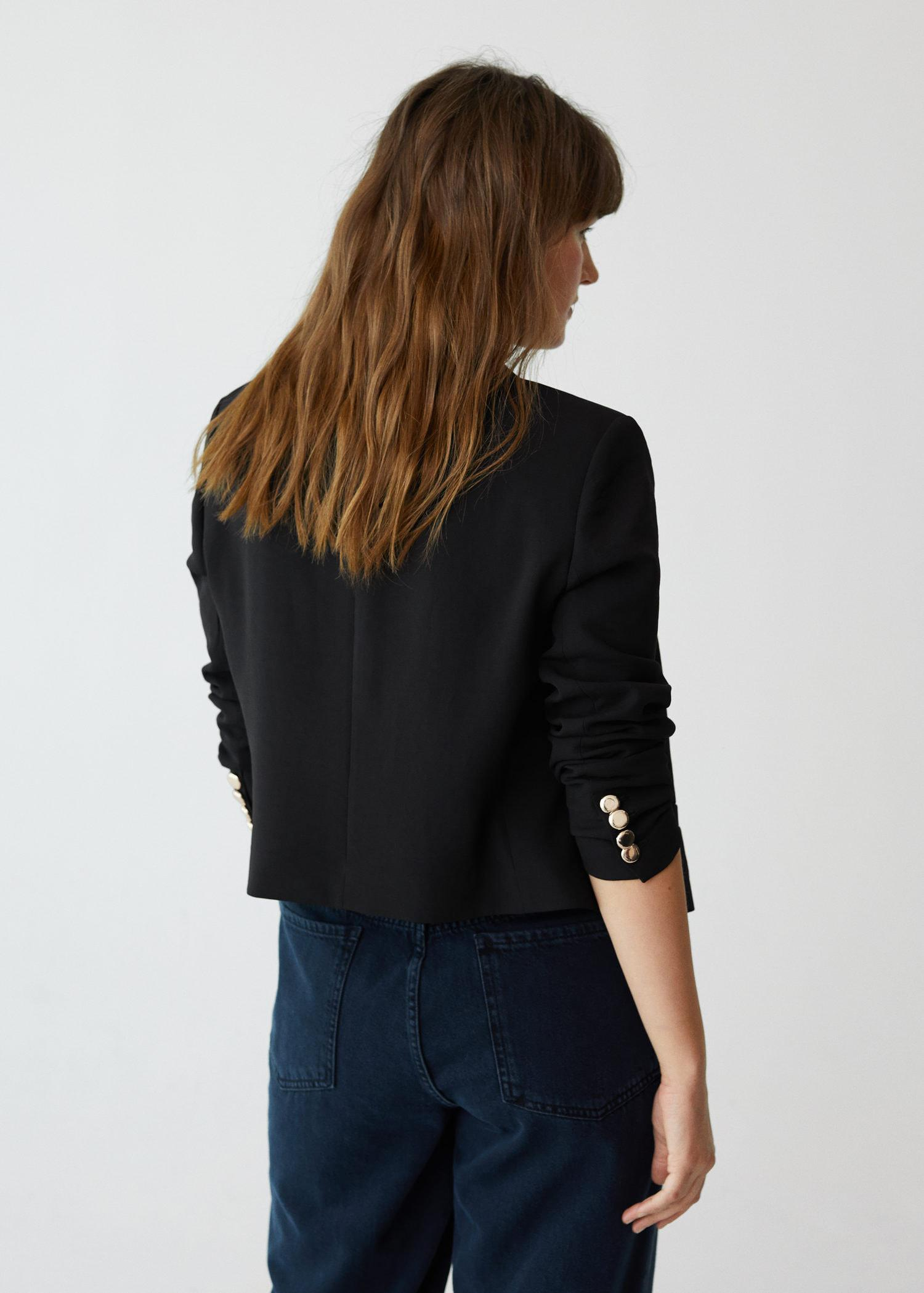 Cropped blazer with buttons 2