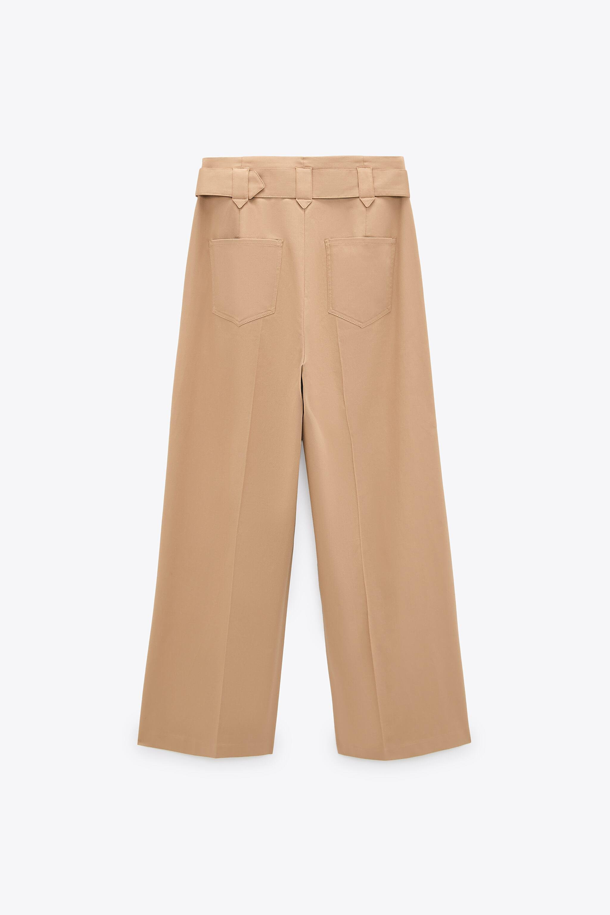 WIDE LEG BELTED PANTS 7
