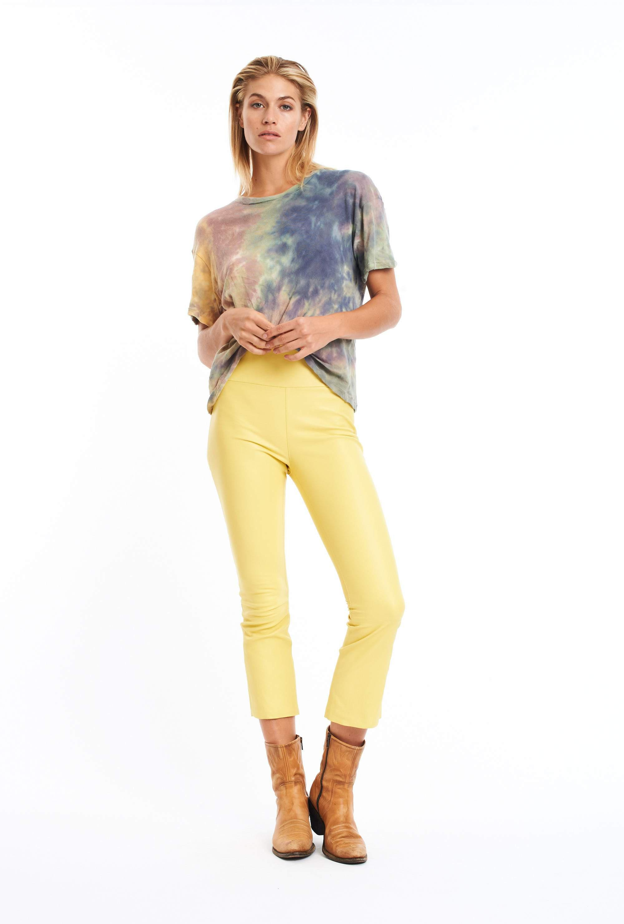 Butter Crop Flare Leather Pant