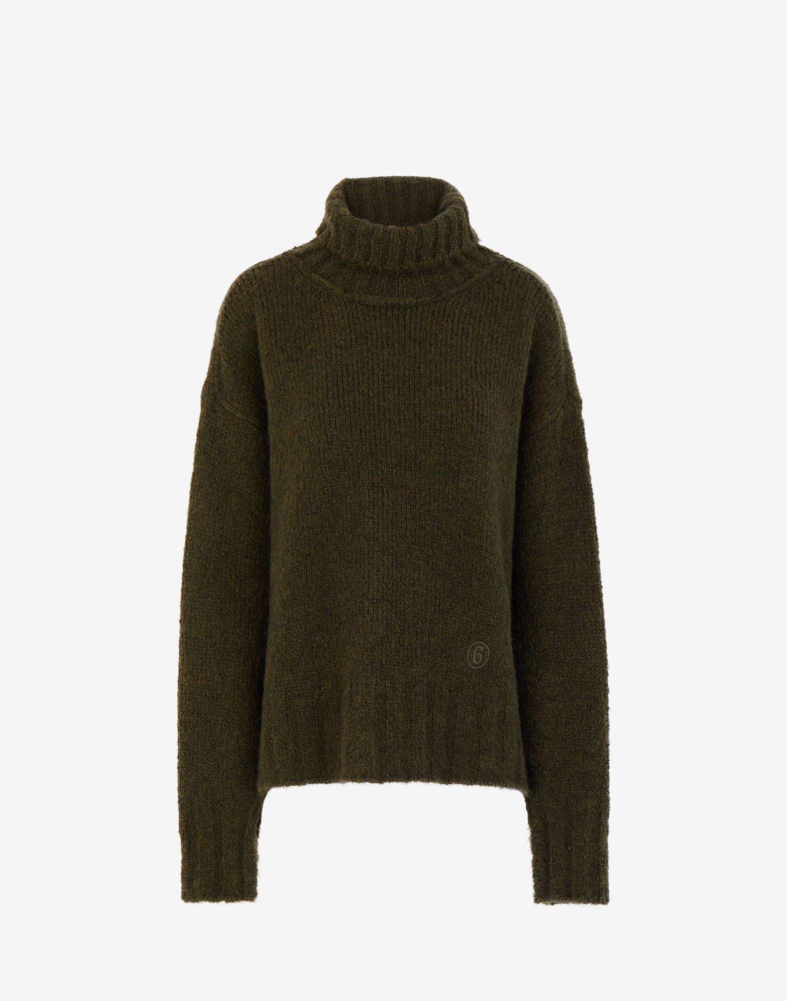 Hairy knit roll-neck sweater 4