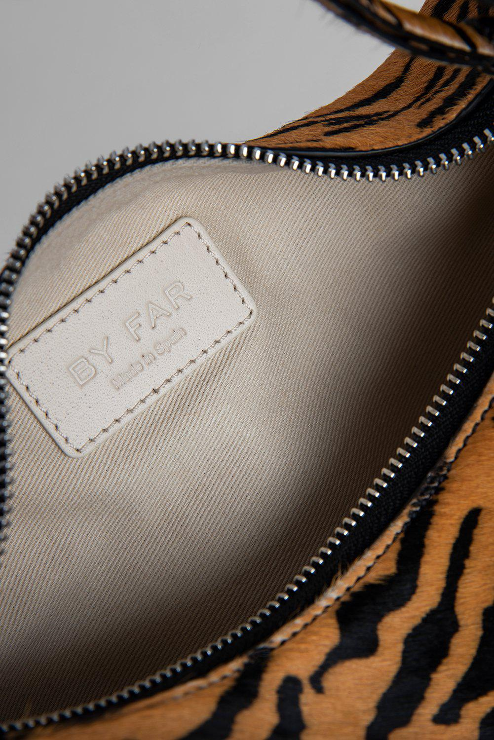 Bougie Tiger-Print Pony Hair Leather 12