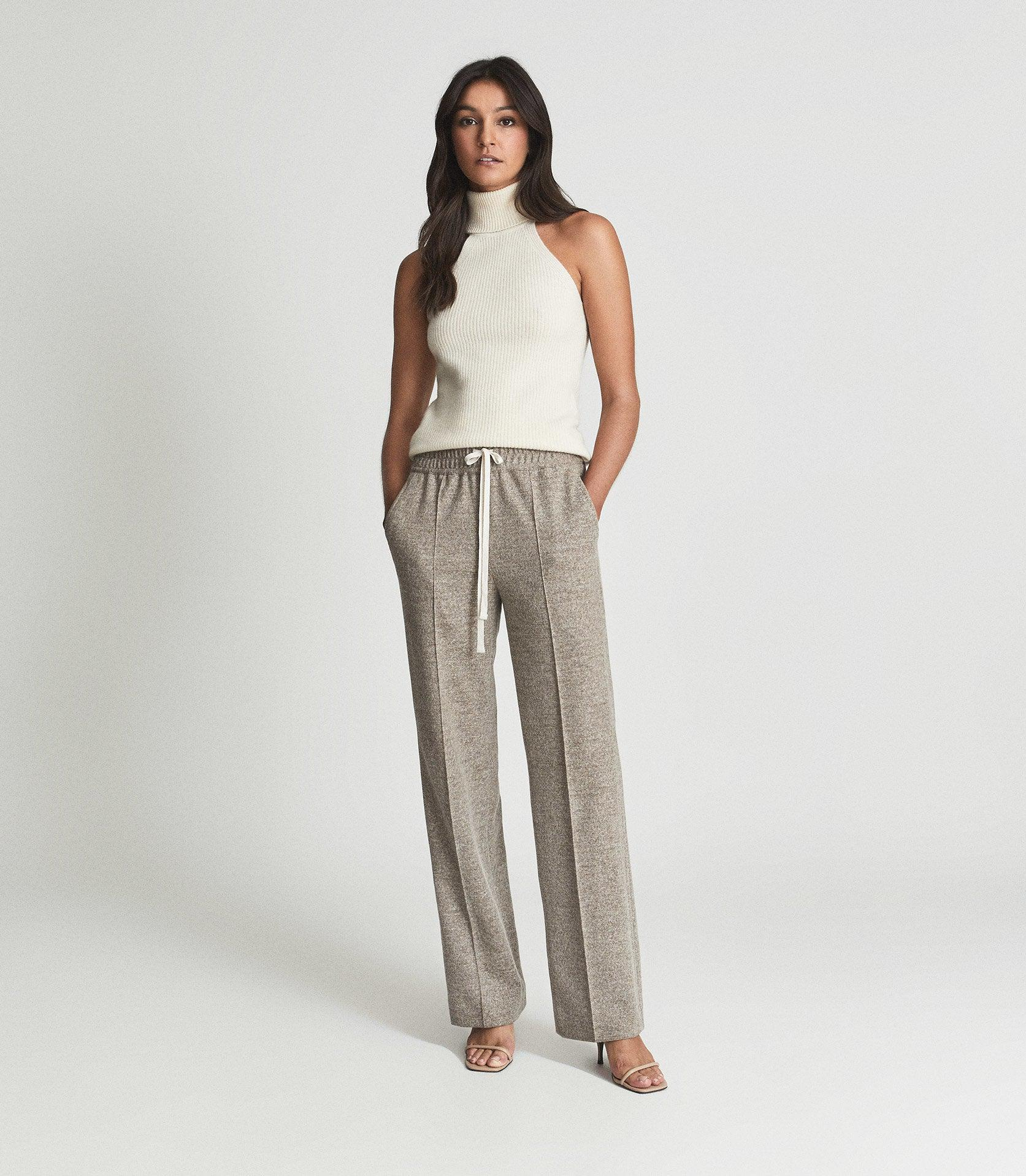 JOEY - TEXTURED WIDE LEG TROUSERS 1