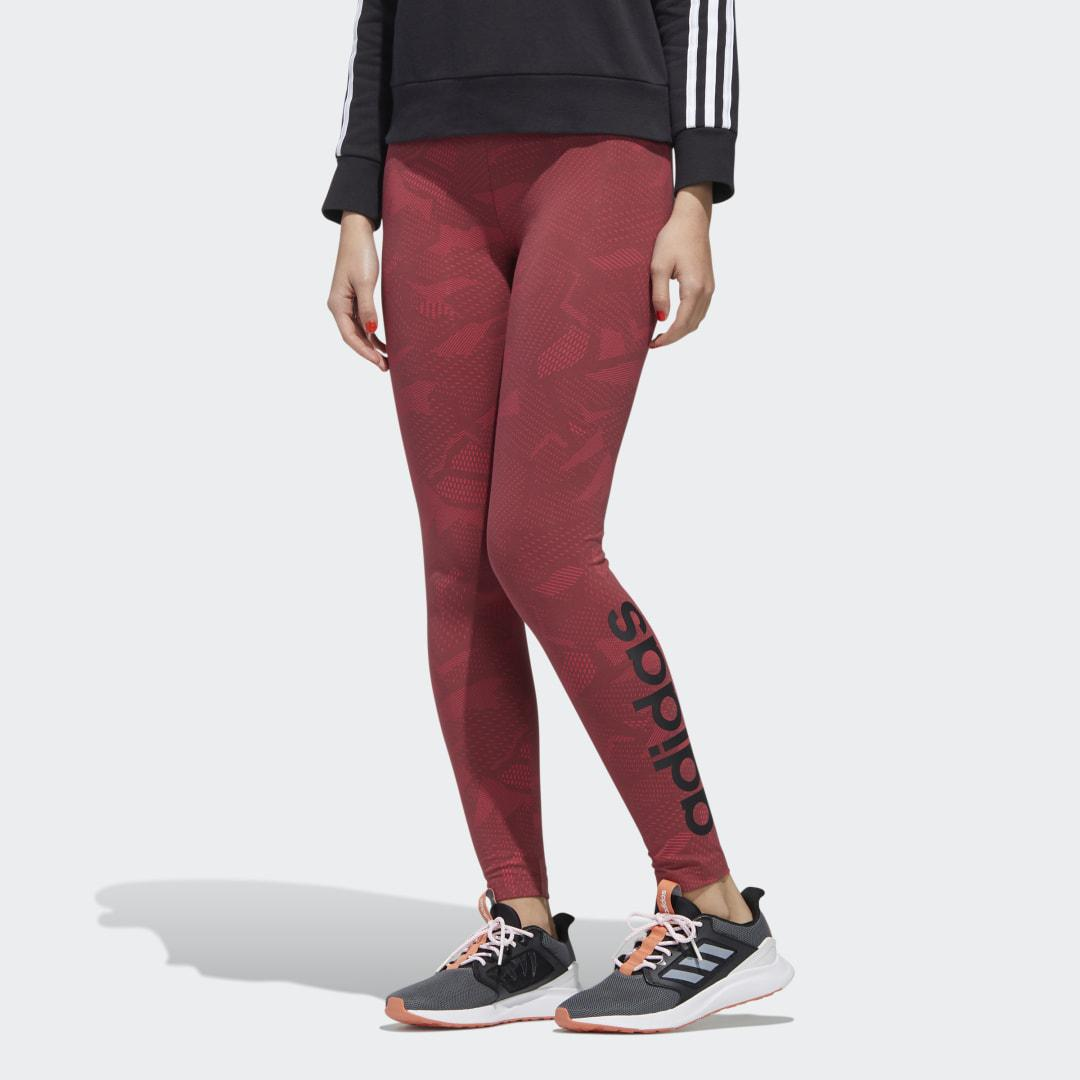 Essentials Allover Print Tights Power Pink 2XS - Womens Training Pants