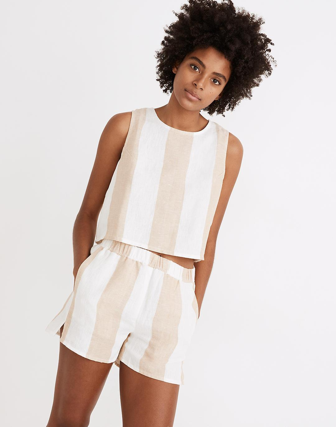 Madewell x LAUDE the Label Open-Back Tank in Tulum Stripe