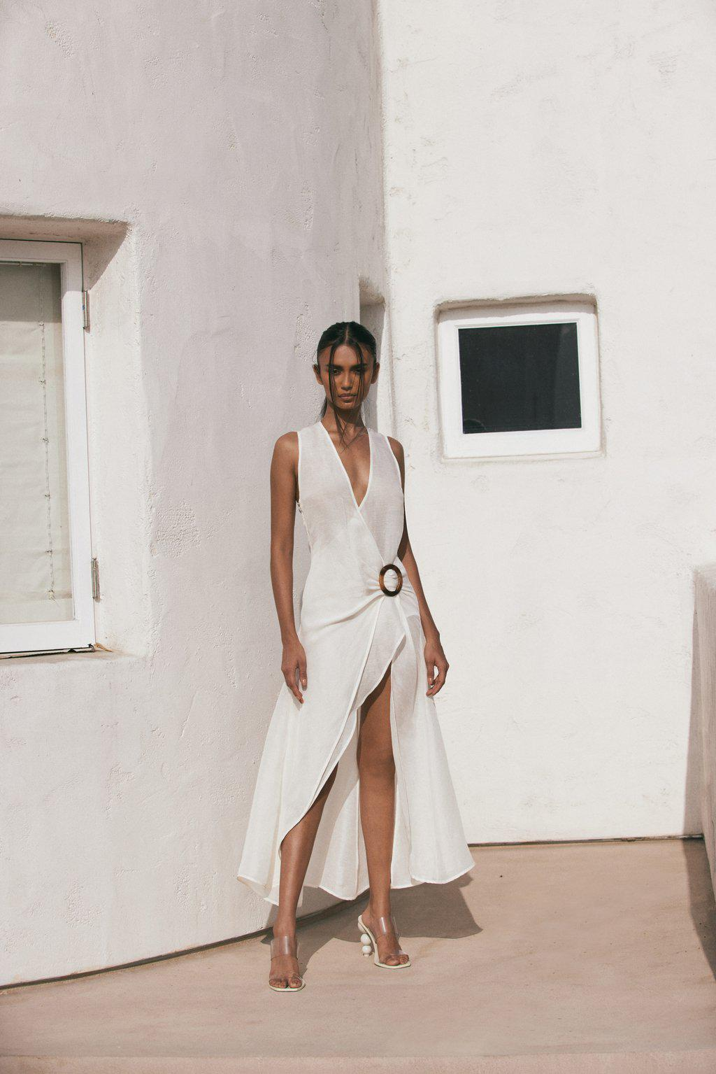 SOLENE COVER UP - OFF WHITE