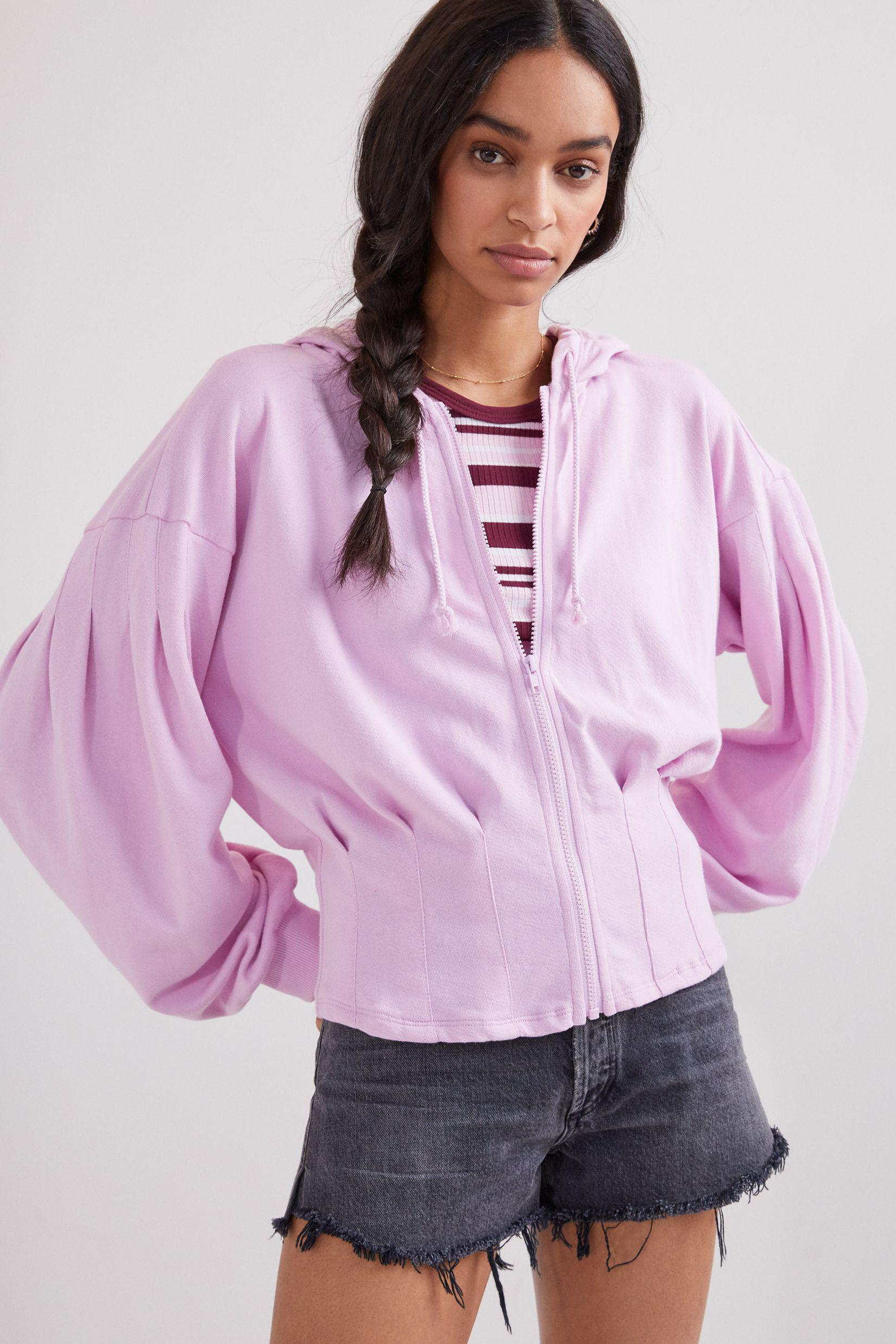 Maeve Cary Darted Zip-Up Hoodie