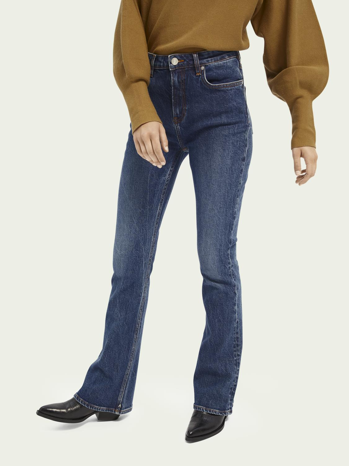 The Charm high-rise flared jeans ─ Take Me Out