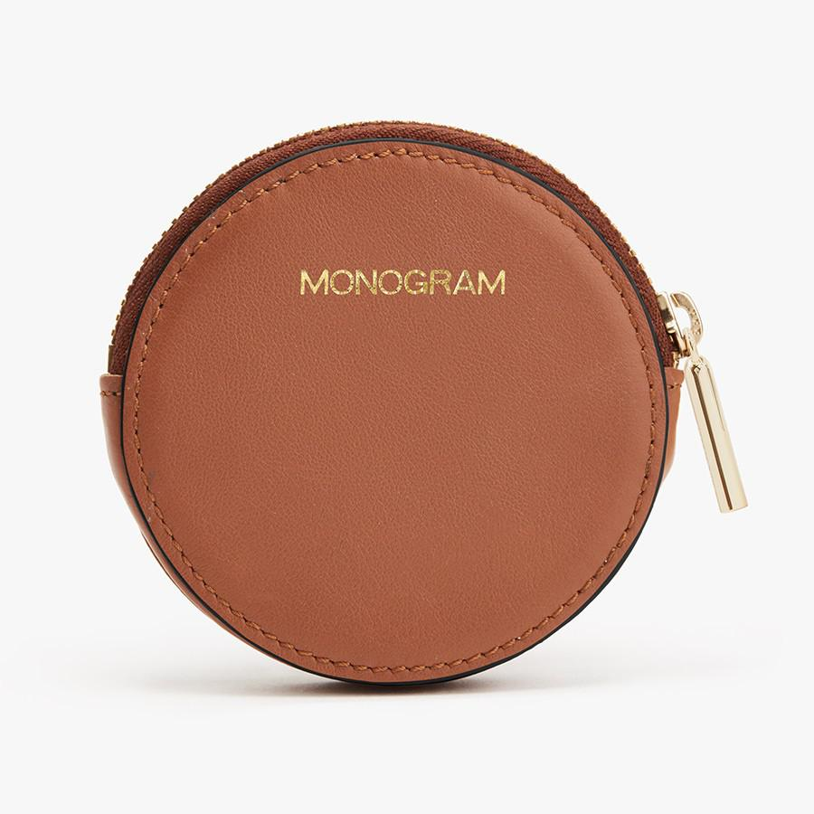 Women's Leather Coin Pouch in Caramel | Smooth Leather by Cuyana 4