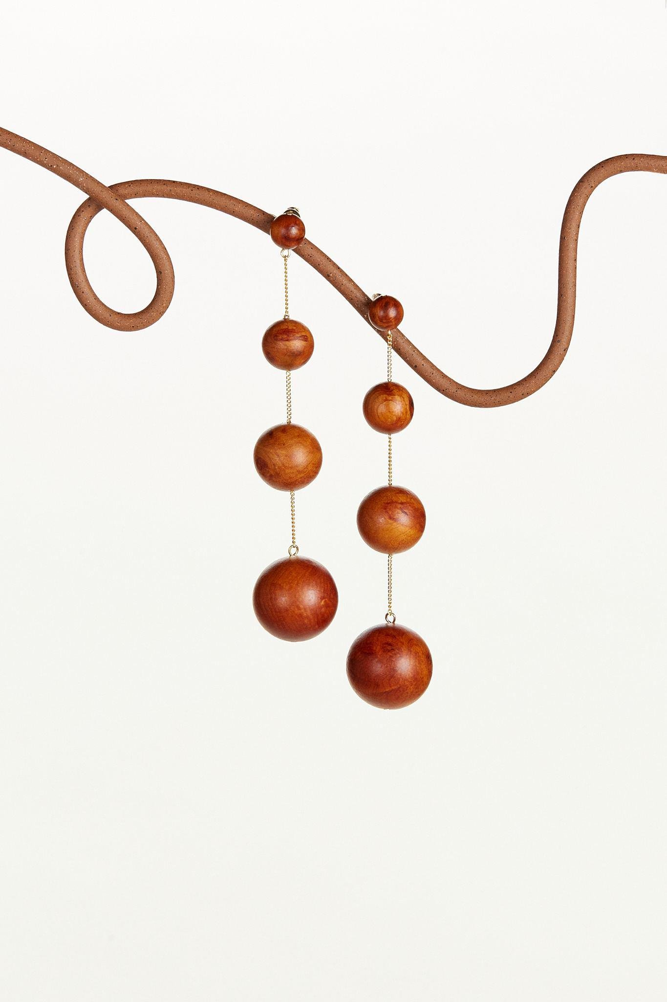 CANDACE EARRING - CHESTNUT