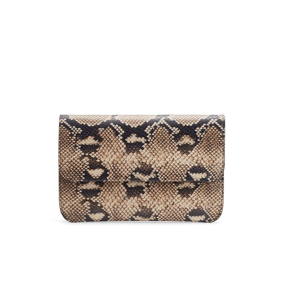 Women's System Flap Bag in Natural Snake | Snake-Embossed by Cuyana