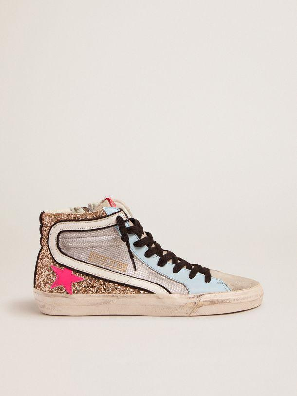 Slide LTD sneakers with glitter and fuchsia star