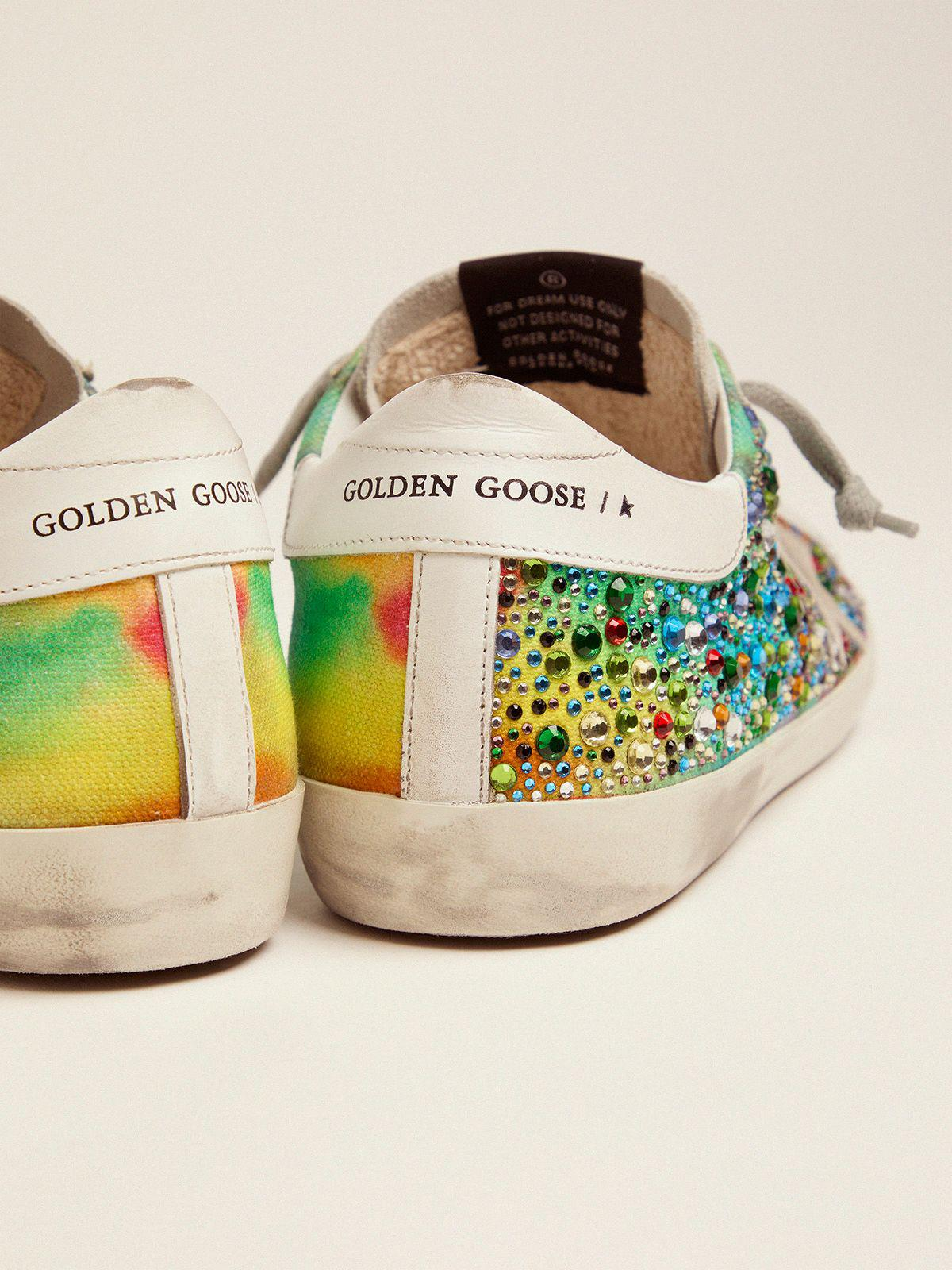 Super-Star sneakers with rainbow crystals 2