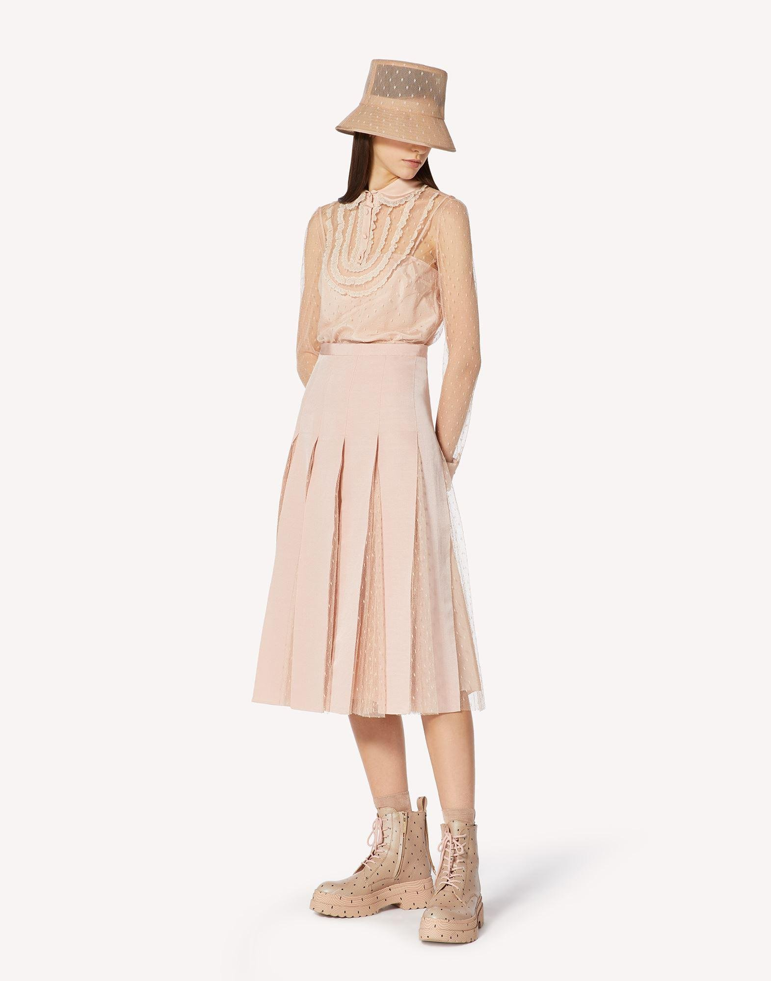 POINT D'ESPRIT TULLE SKIRT WITH GROSGRAIN RIBBONS 2