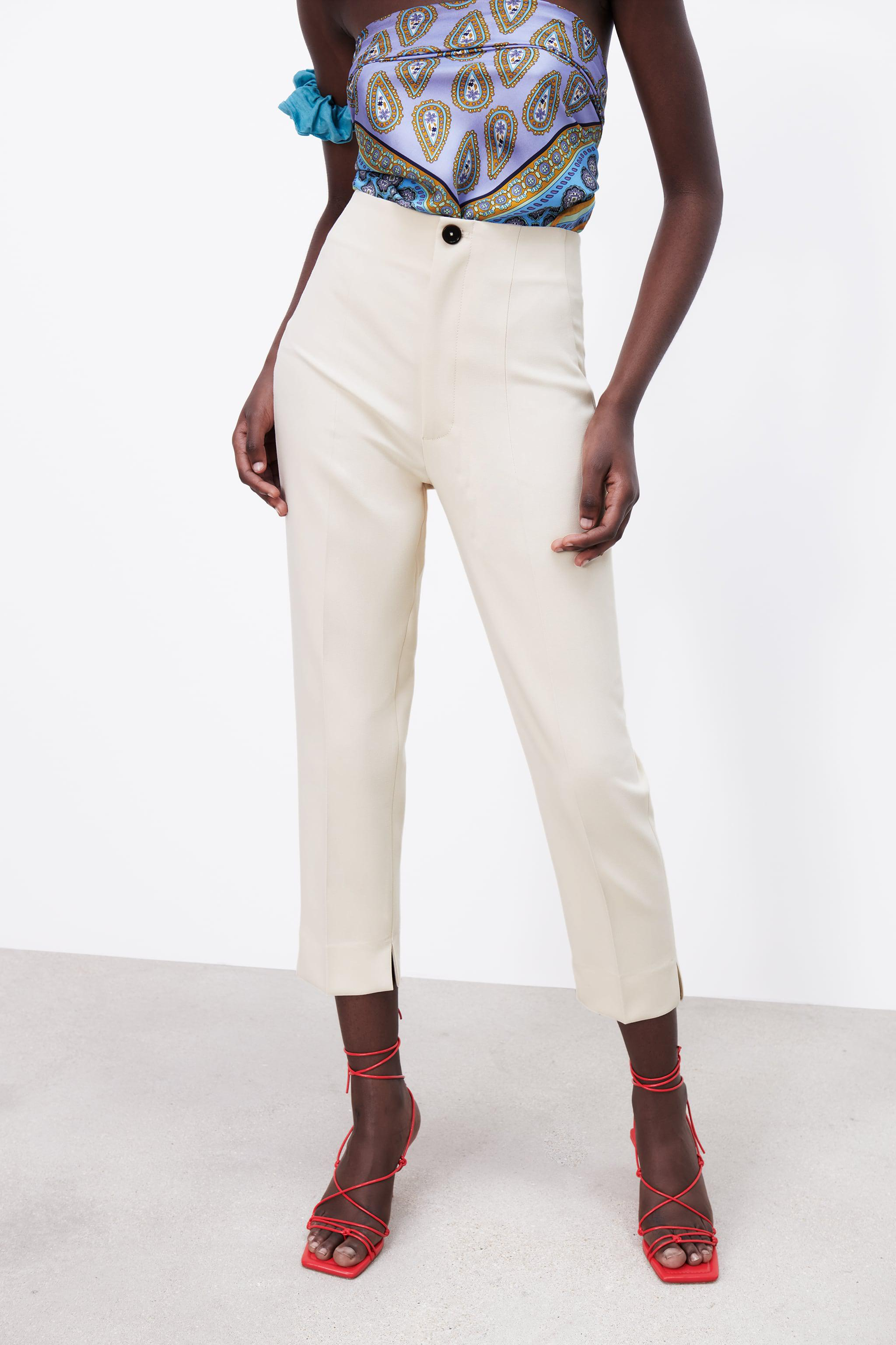 HIGH-WAISTED PANTS WITH VENTS 1