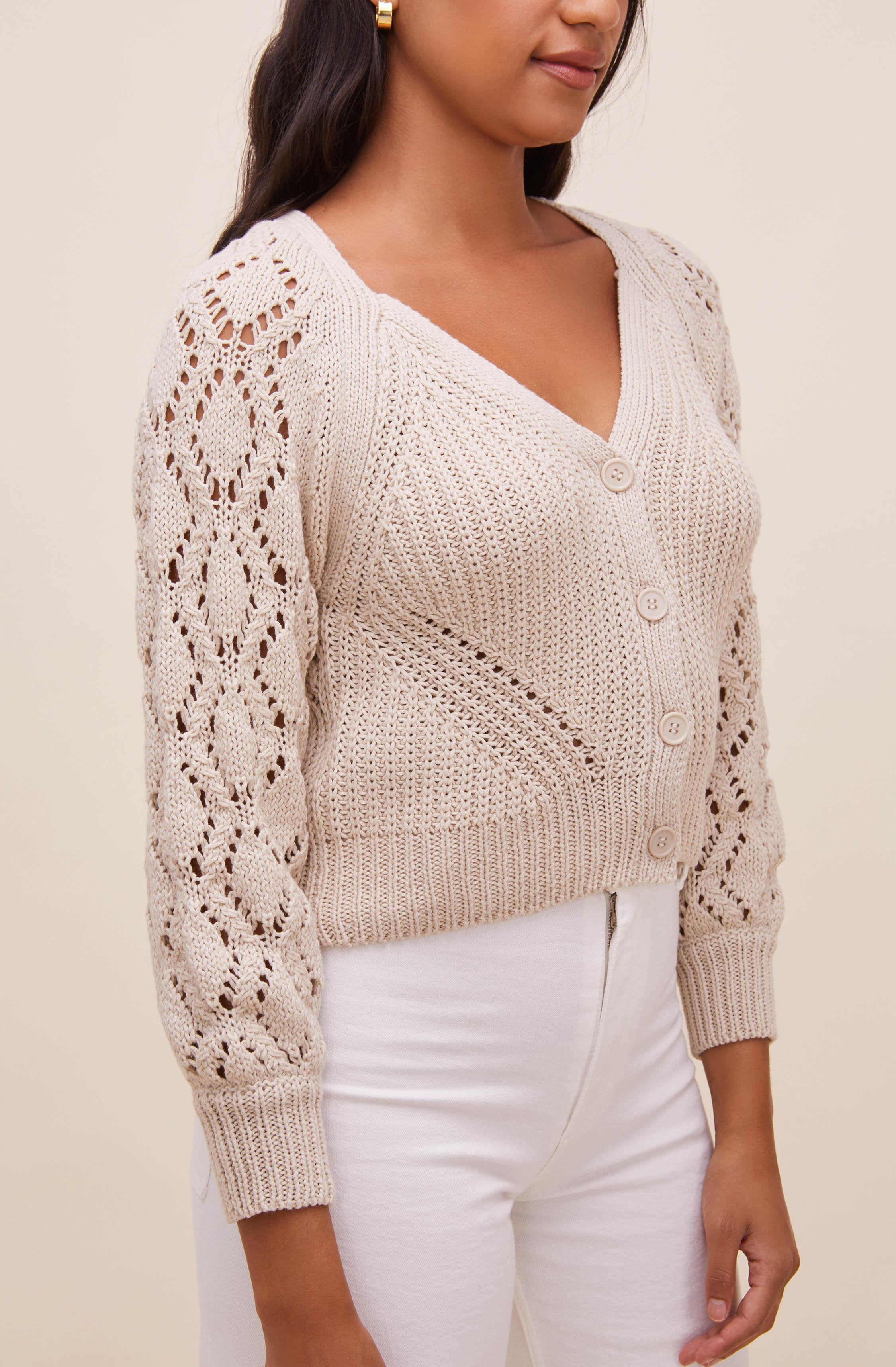 Angelica Pointelle Knit Cardigan 3