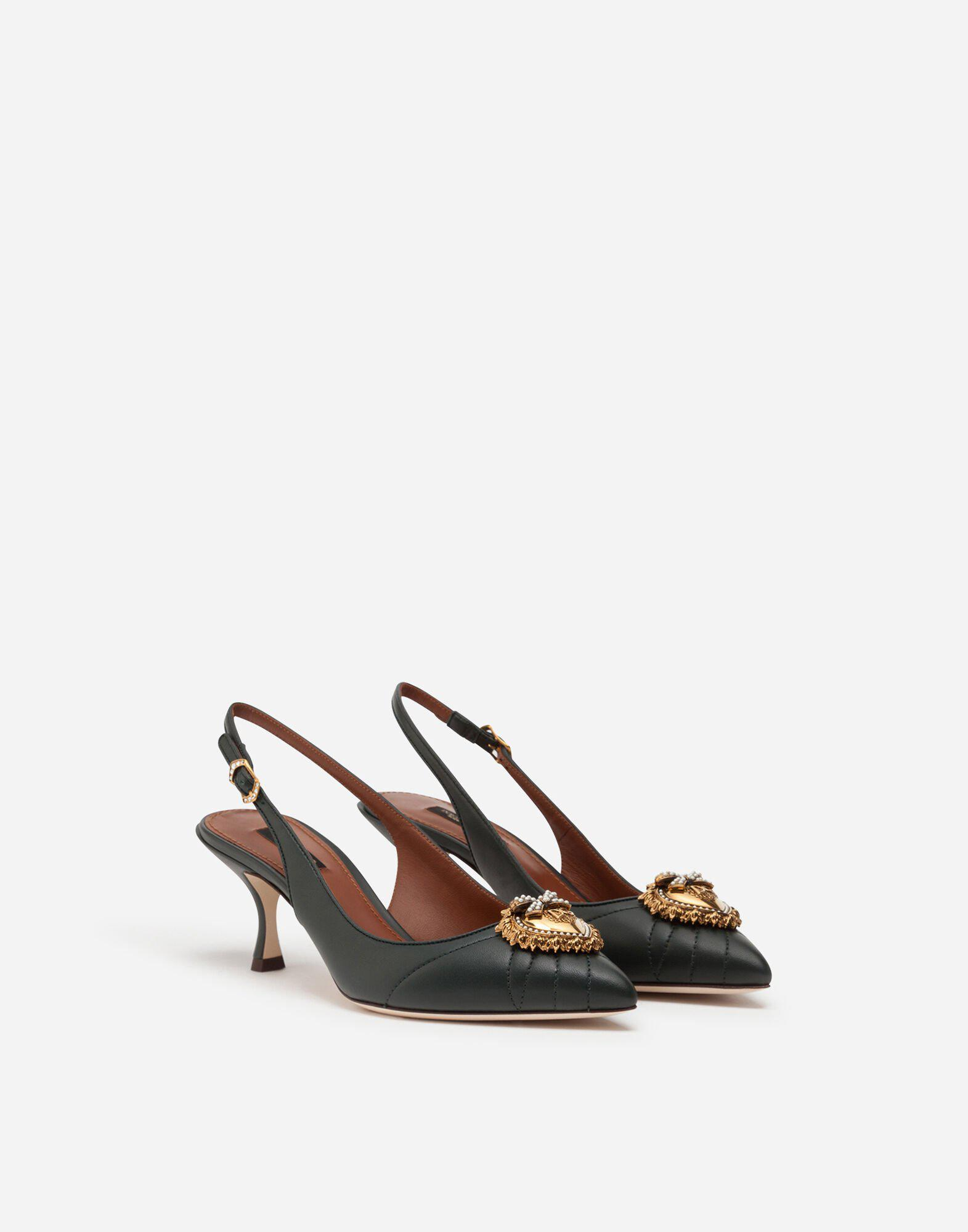 Quilted nappa leather Devotion slingbacks 1