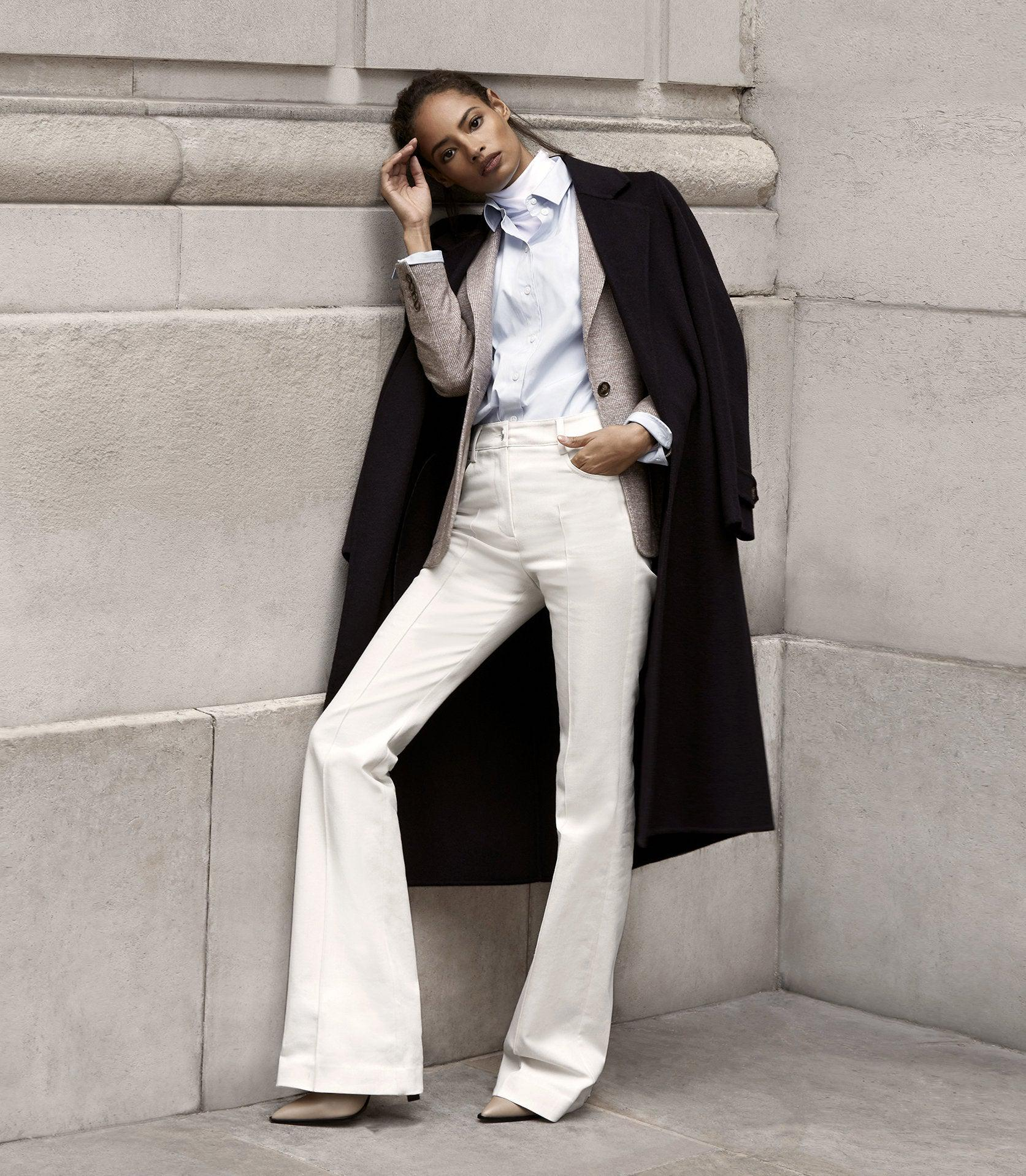 FLORENCE - HIGH RISE FLARED TROUSERS 0