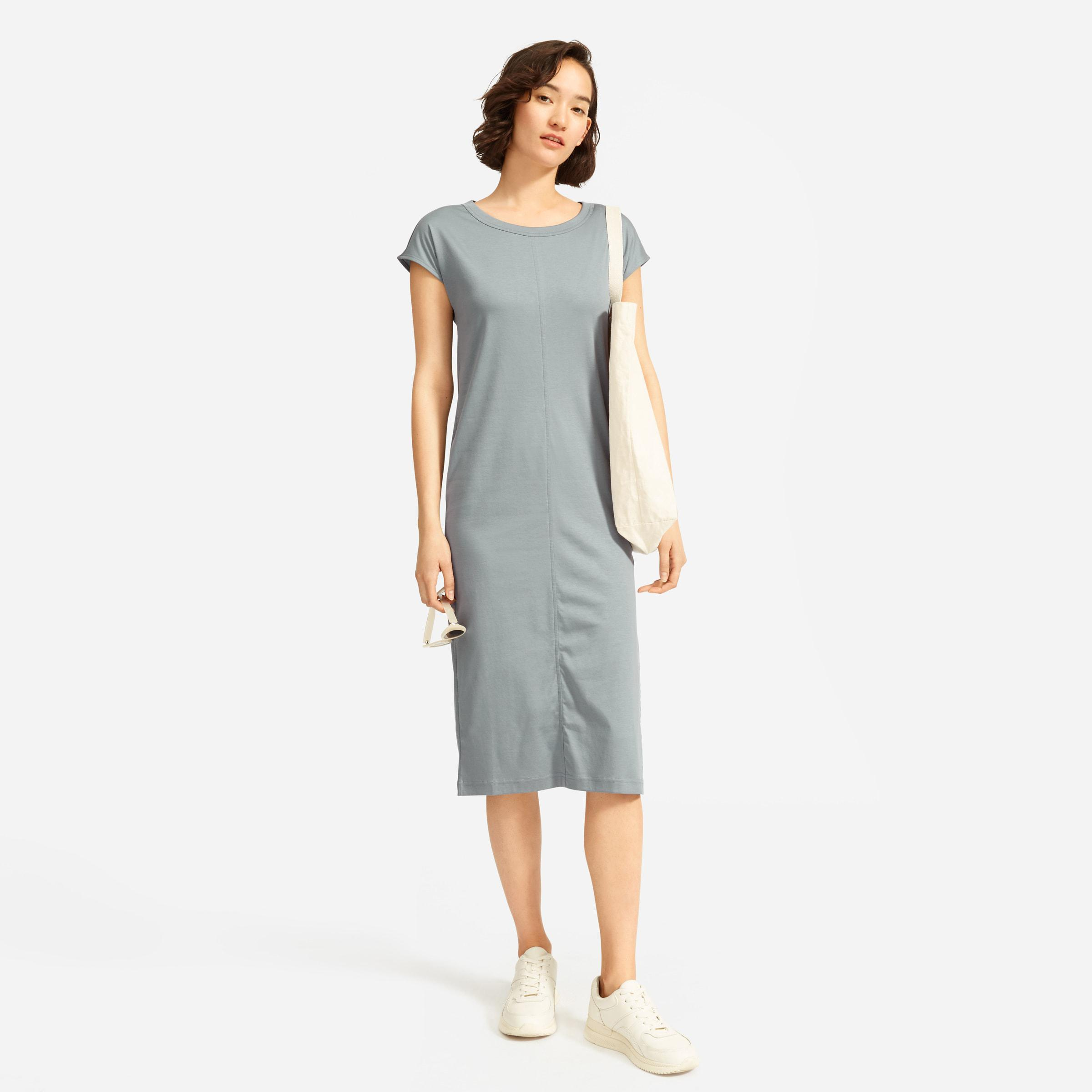 The Luxe Cotton Side-Slit Tee Dress