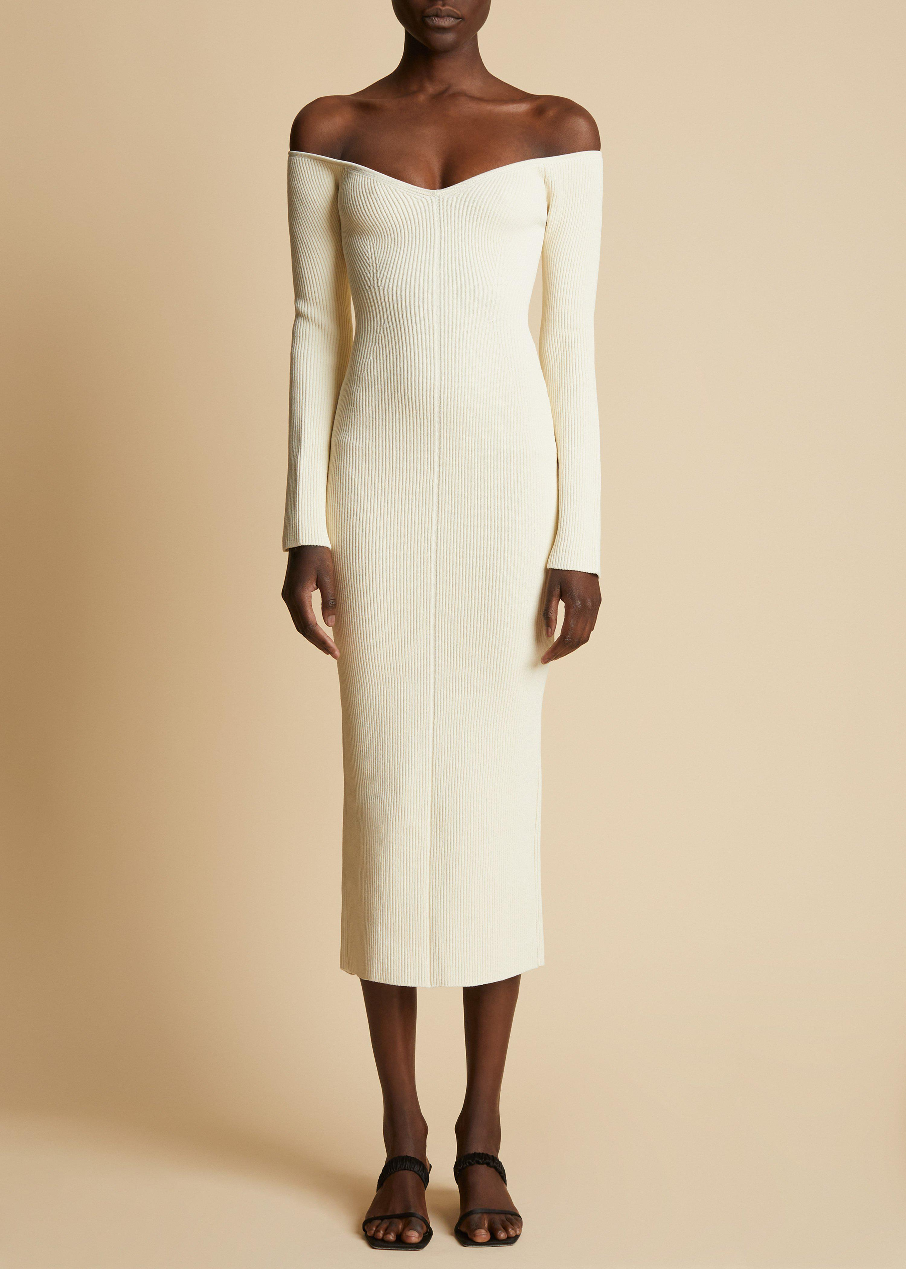 The Pia Dress in Ivory 1