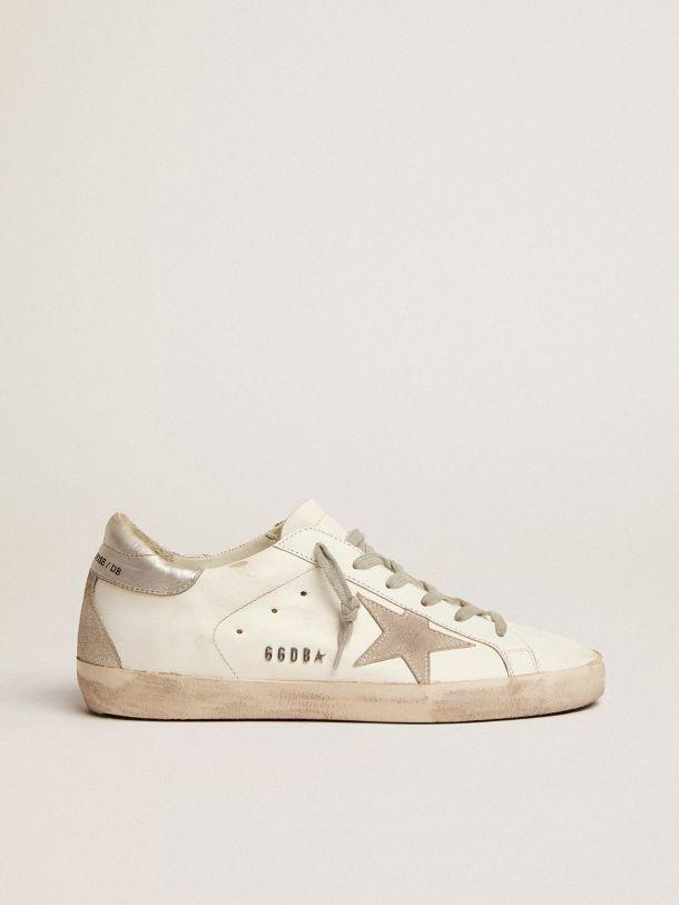 Super-Star sneakers with silver-coloured heel tab and metal stud lettering