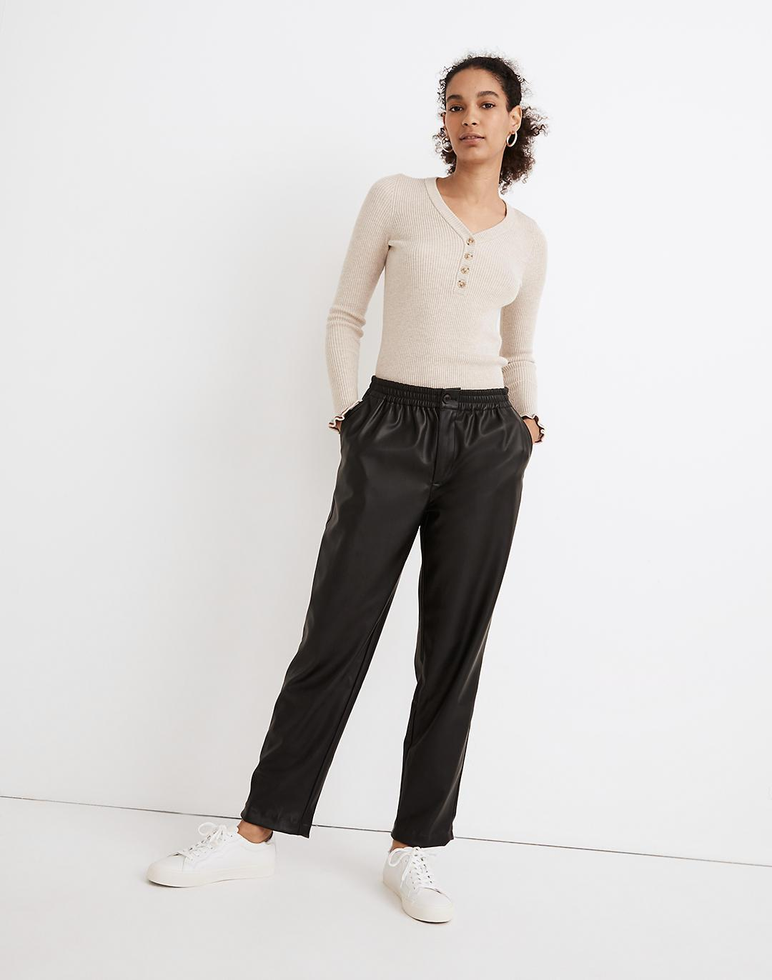 Vegan Leather Track Trousers