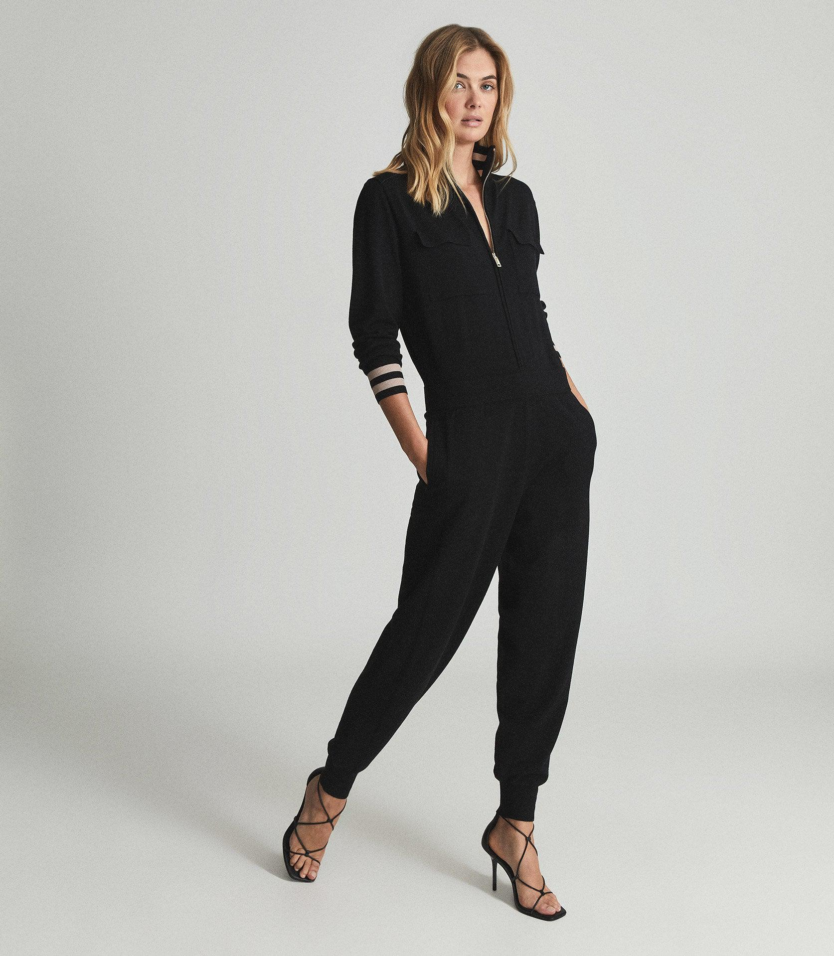 JOAN - CONTRAST TIPPED JUMPSUIT