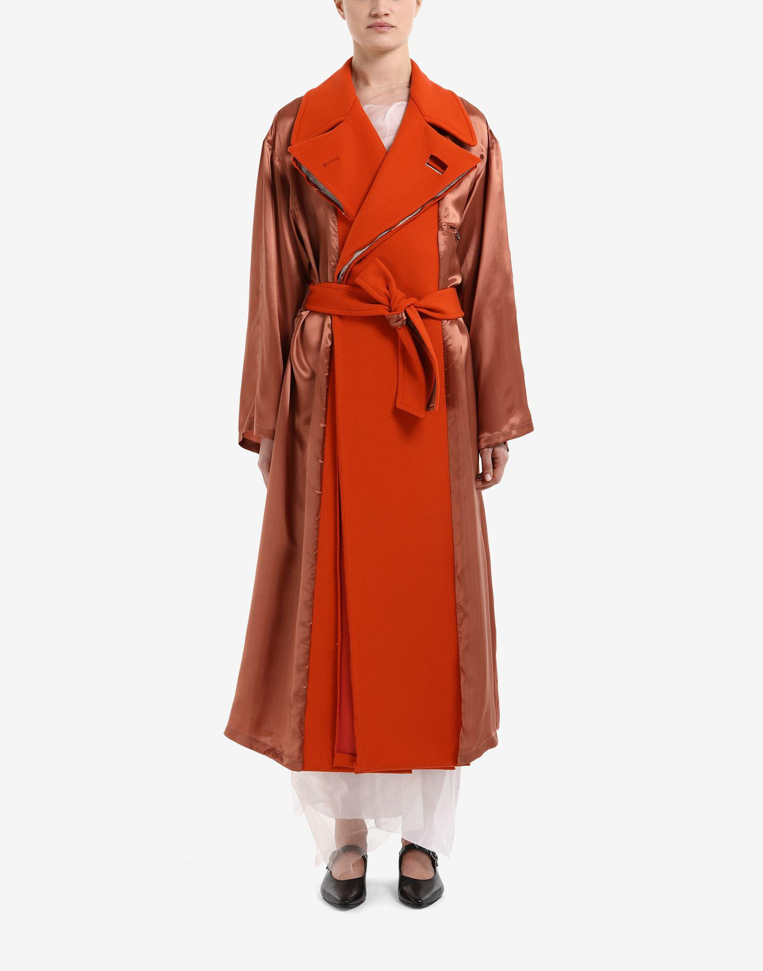 Anonymity of the lining trench coat